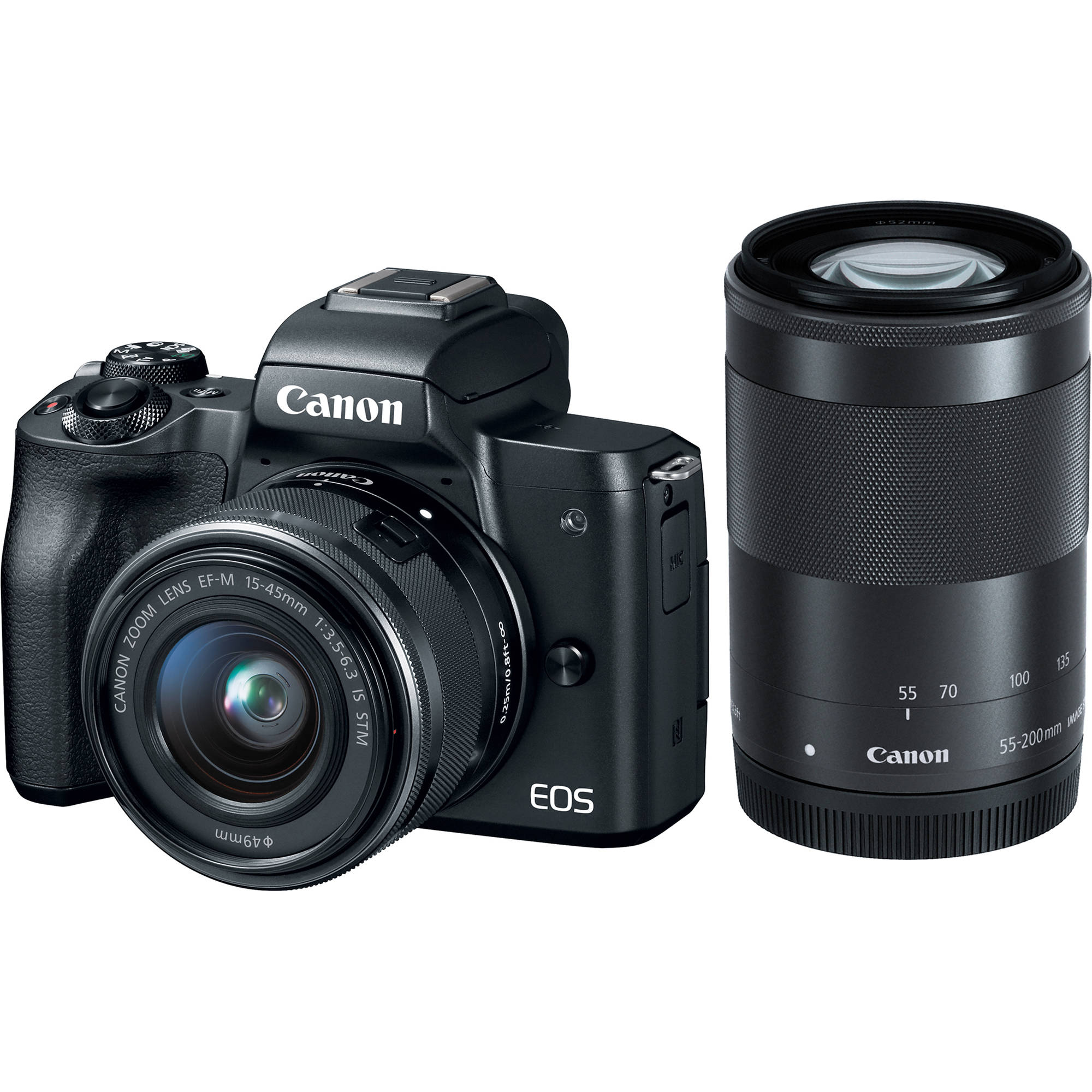 canon eos m50 mirrorless digital camera with 15 45mm 2680c021