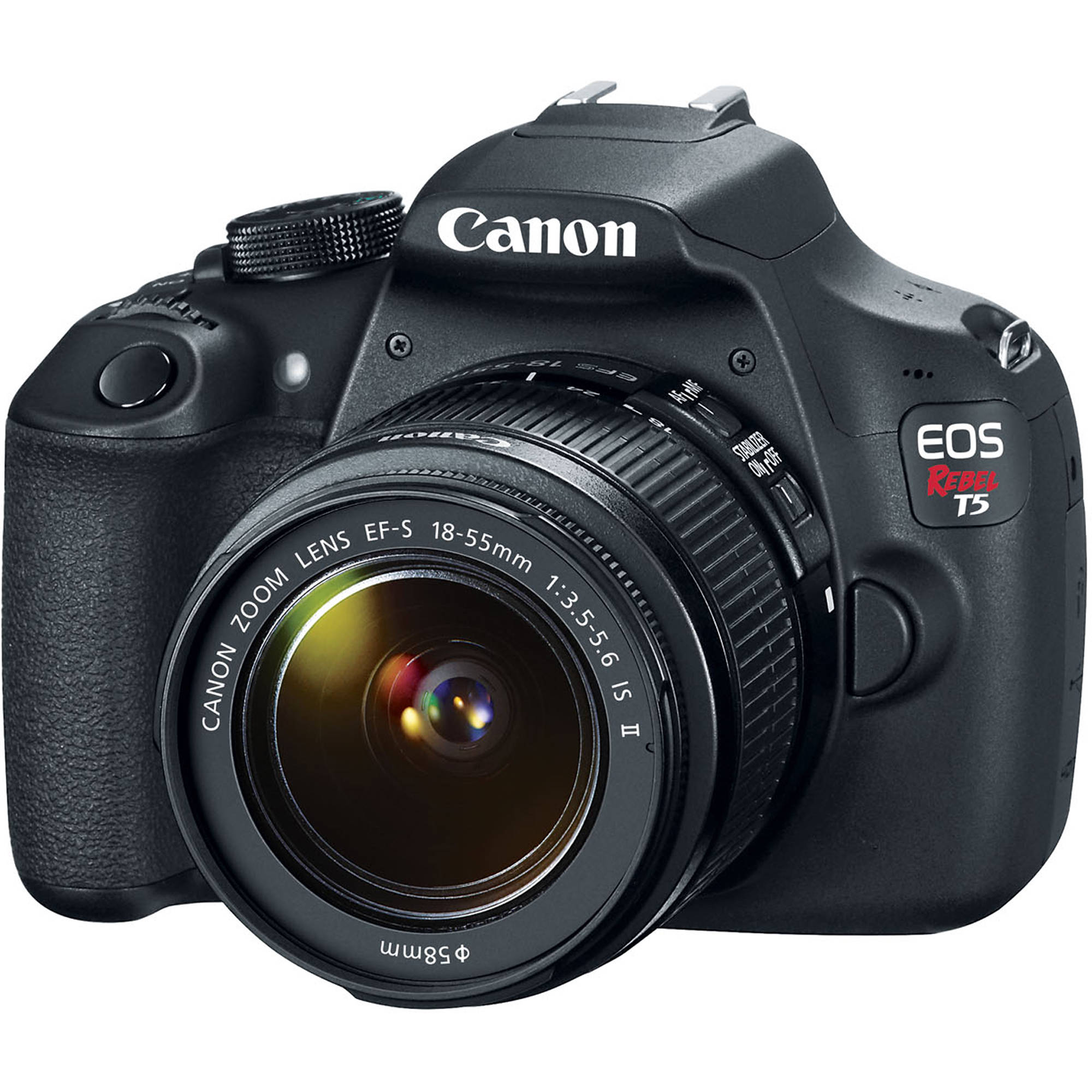 Canon T5 EOS Rebel DSLR Camera with EF-S 18-55mm IS II 9126B003 ...