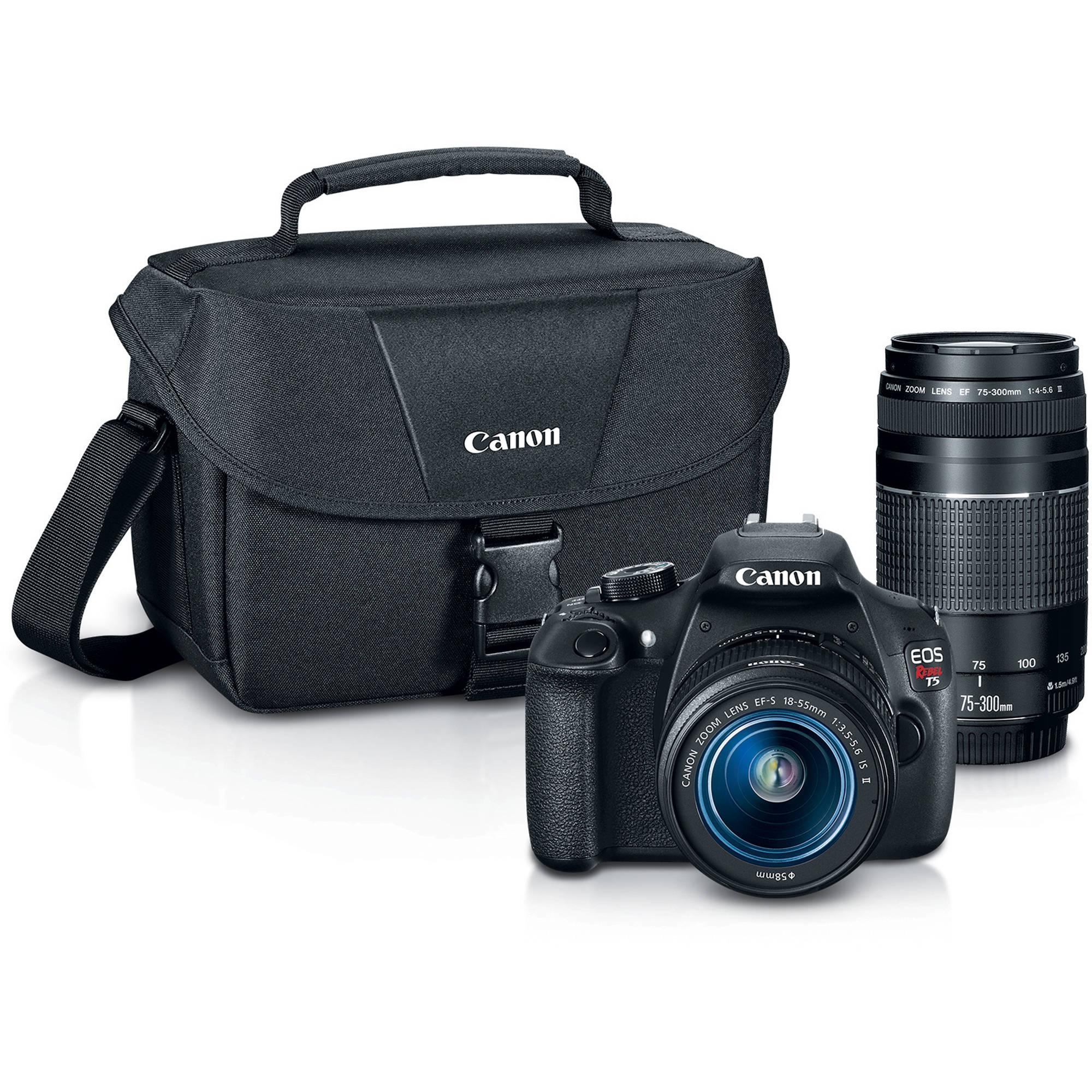 Camera Dslr Camera Deals Canada dslr cameras digital slr bh photo canon eos rebel t5 camera with 18 55mm and 75 300mm lenses bundle