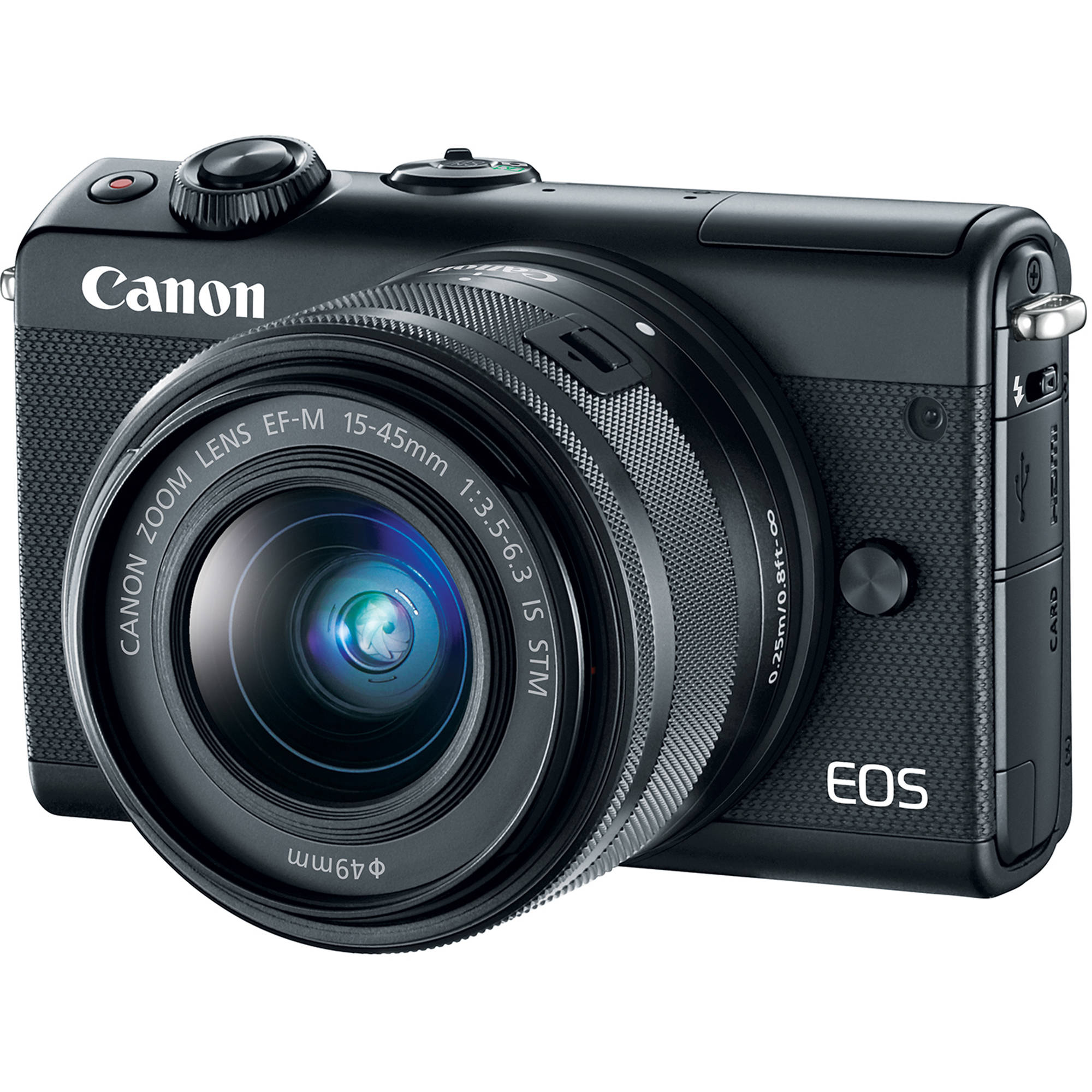 Canon EOS M100 Mirrorless Digital Camera with 15-45mm 2209C011