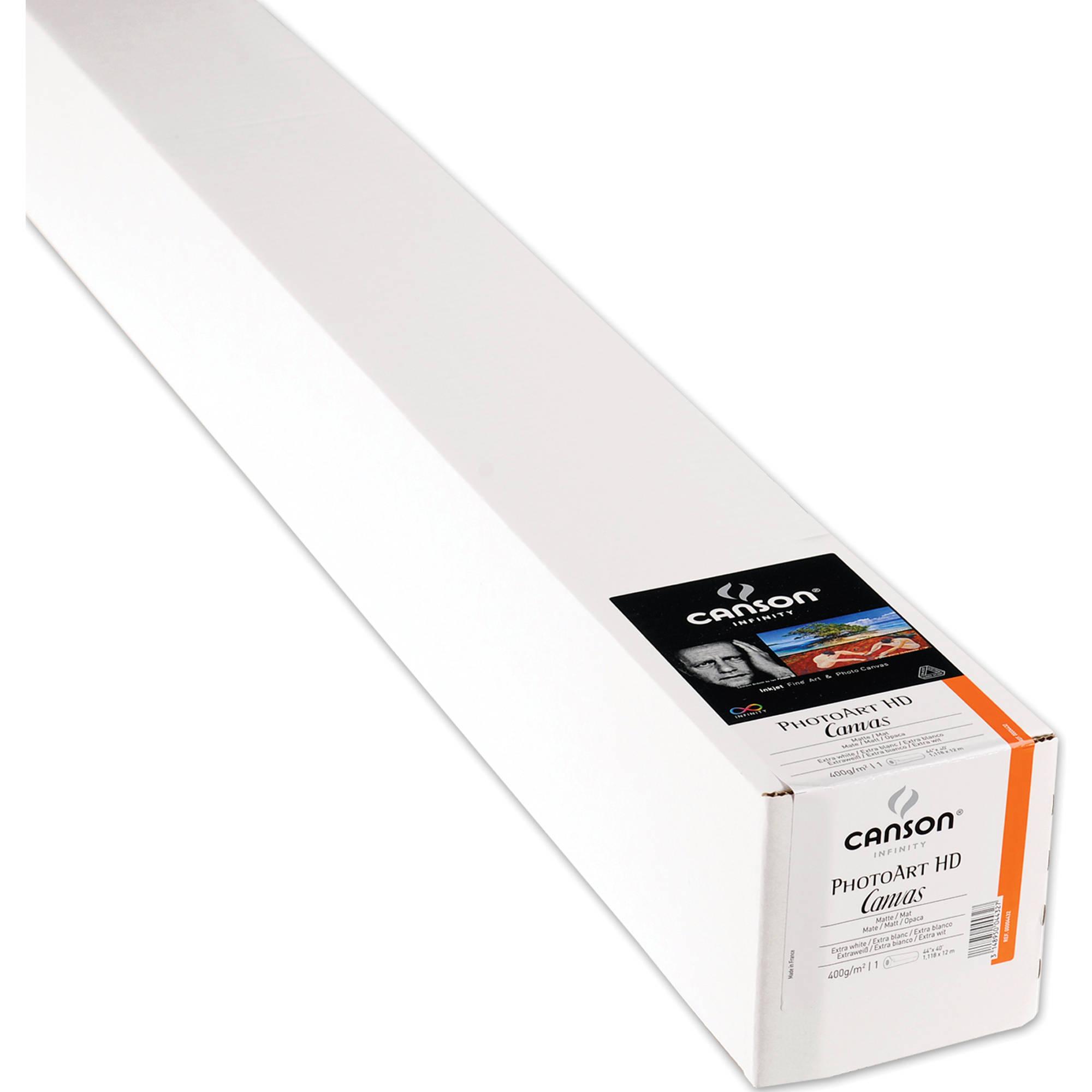 canson infinity photoart hd canvas inkjet paper 200004432 b h