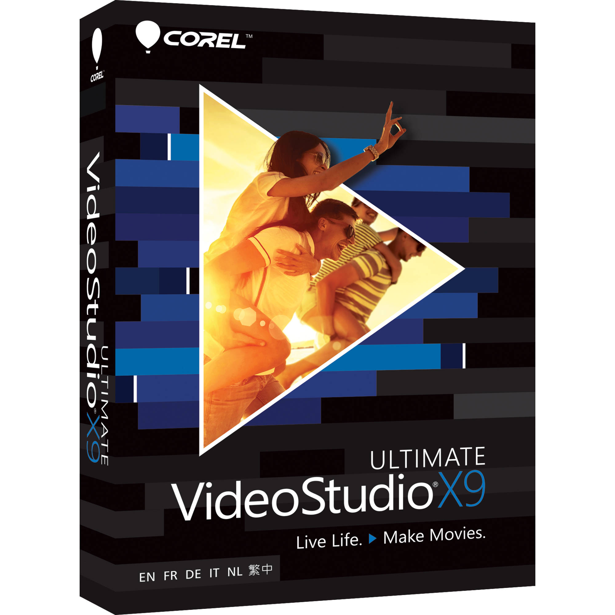 Corel videostudio x9 ultimate boxed vsprx9ulmlmbam b h photo for Corel video studio templates download