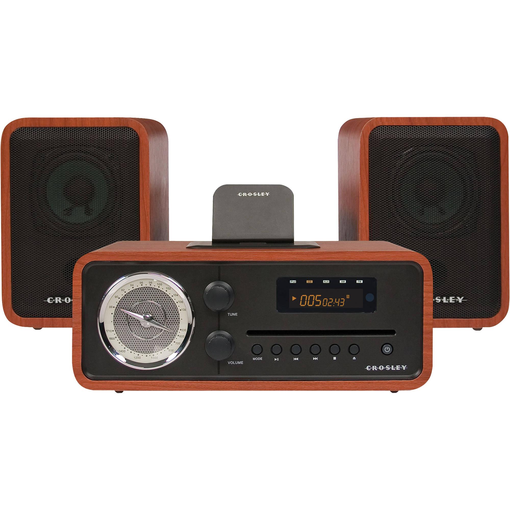 crosley radio audiophile shelf system with am  fm cr3012a