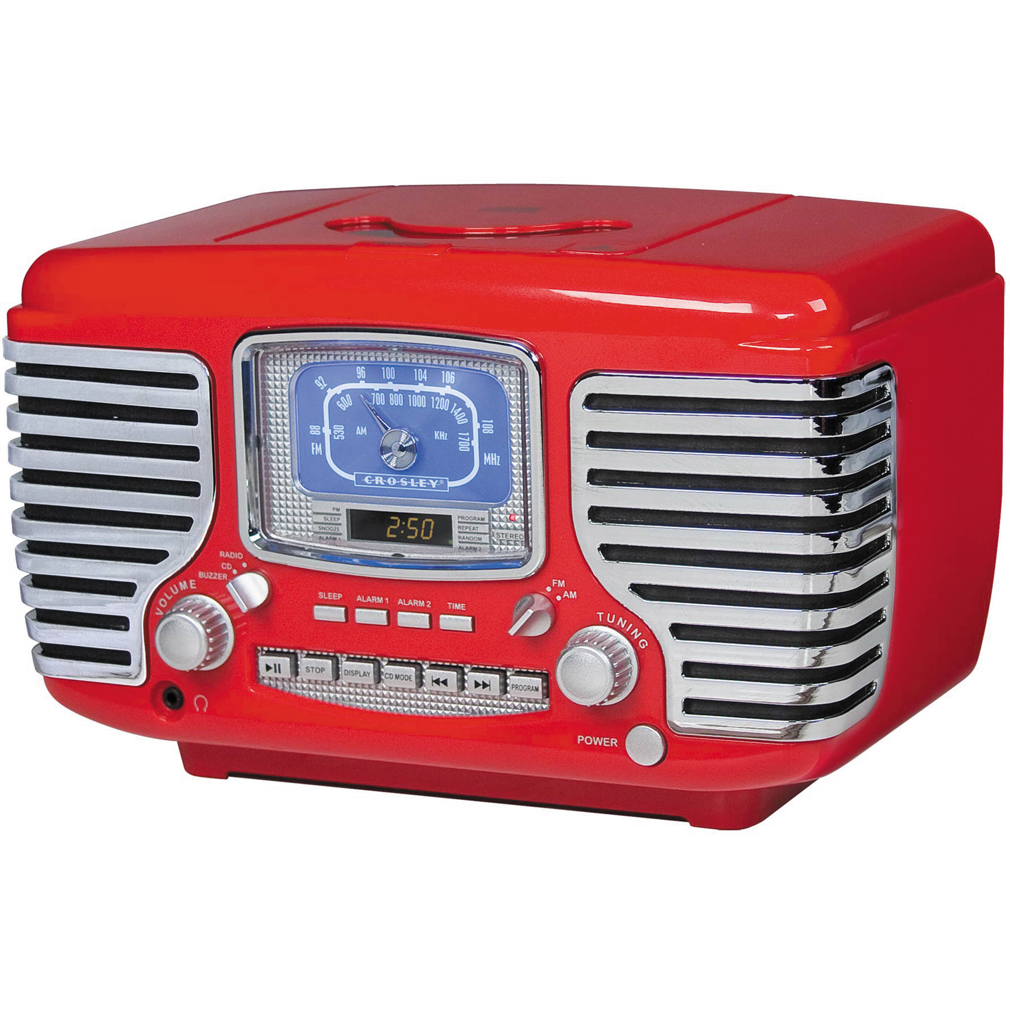 Crosley Radio Cr612 Corsair Clock Red