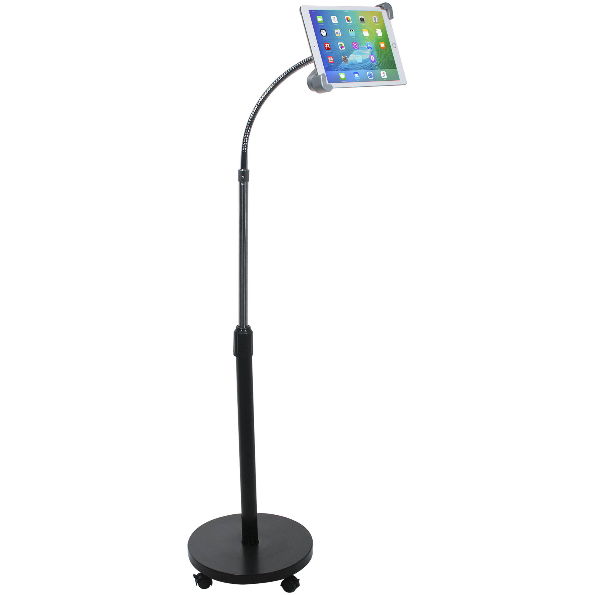 Cta Digital Security Gooseneck Floor Stand For Tablets Pad Sgf