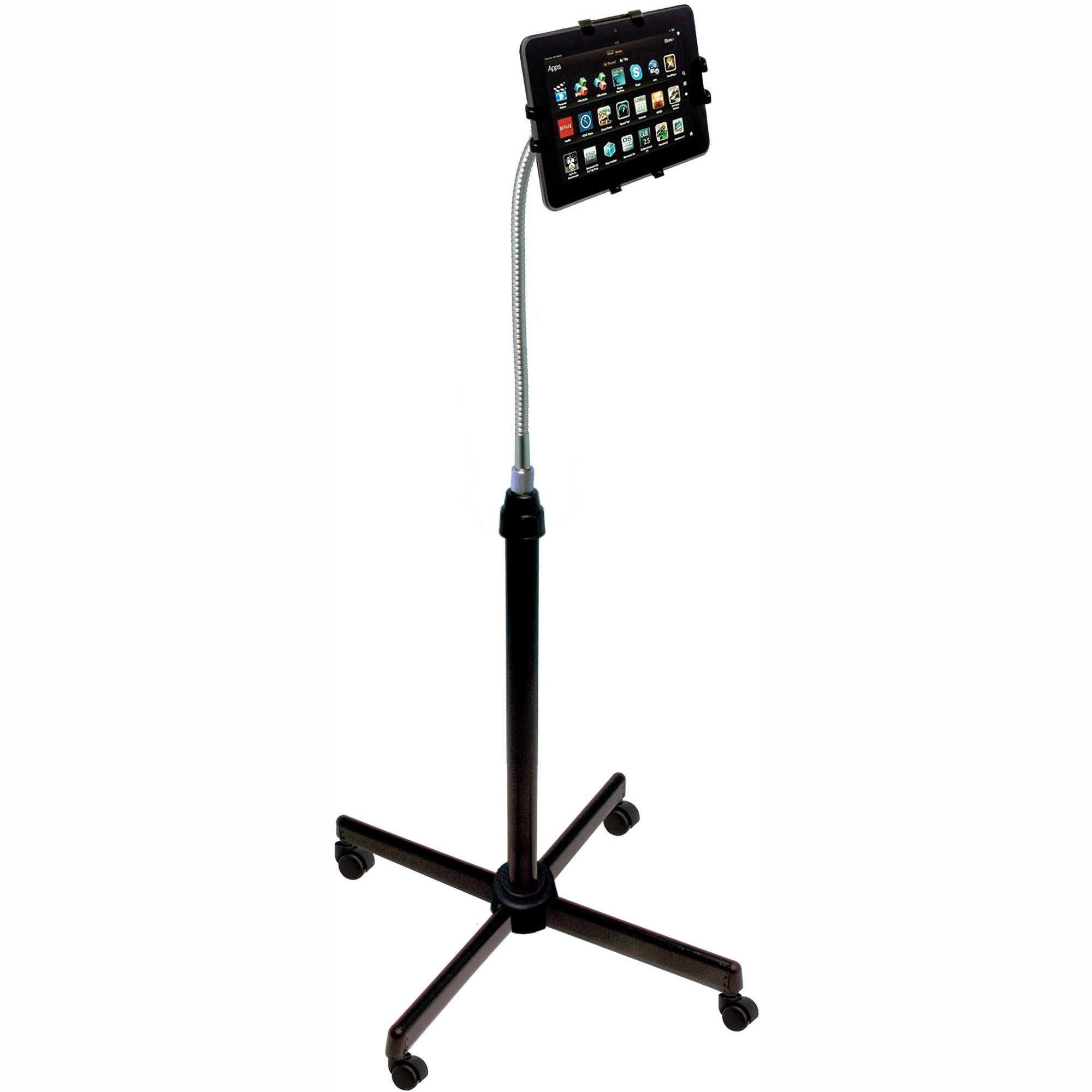 cta digital height adjustable gooseneck stand pad uafs b amp h best ipad floor stand for bed heavy duty office chairs