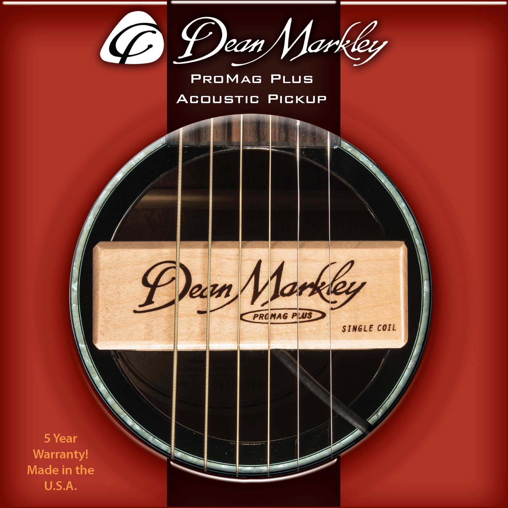 dean markley promag plus acoustic guitar pickup dm3010 b h photo. Black Bedroom Furniture Sets. Home Design Ideas