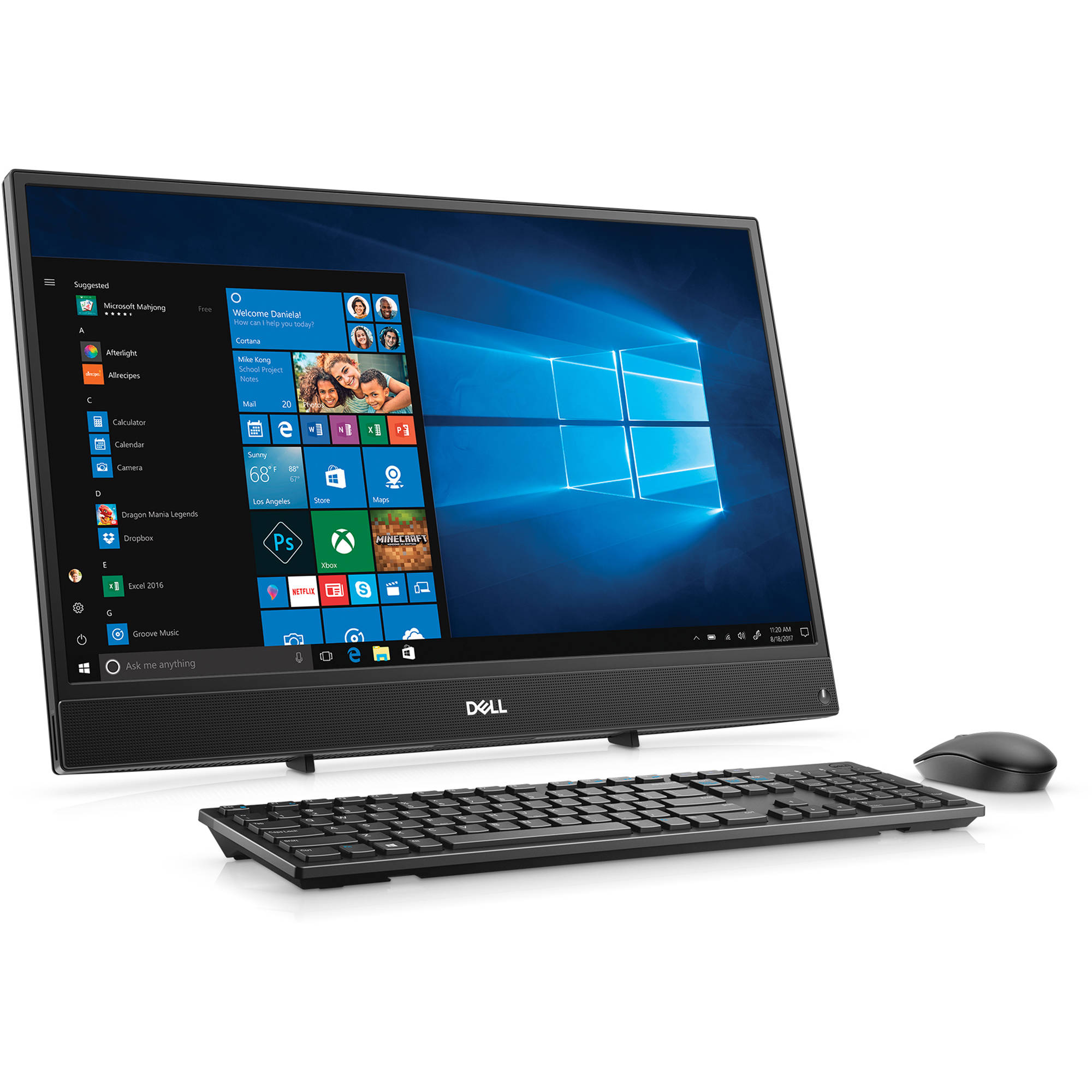 Dell 238 inspiron 24 3000 series i3477 5852blk bh photo dell 238 inspiron 24 3000 series multi touch all in one desktop sciox Gallery