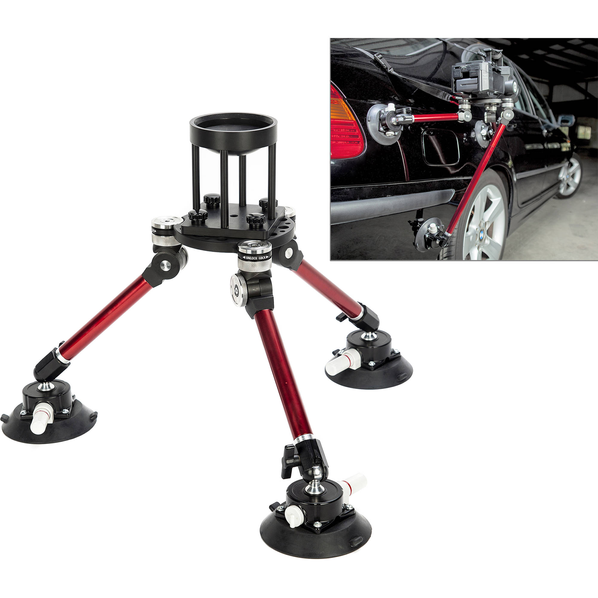 digital juice spyder pod vehicle camera mounting system rig4 b h. Black Bedroom Furniture Sets. Home Design Ideas