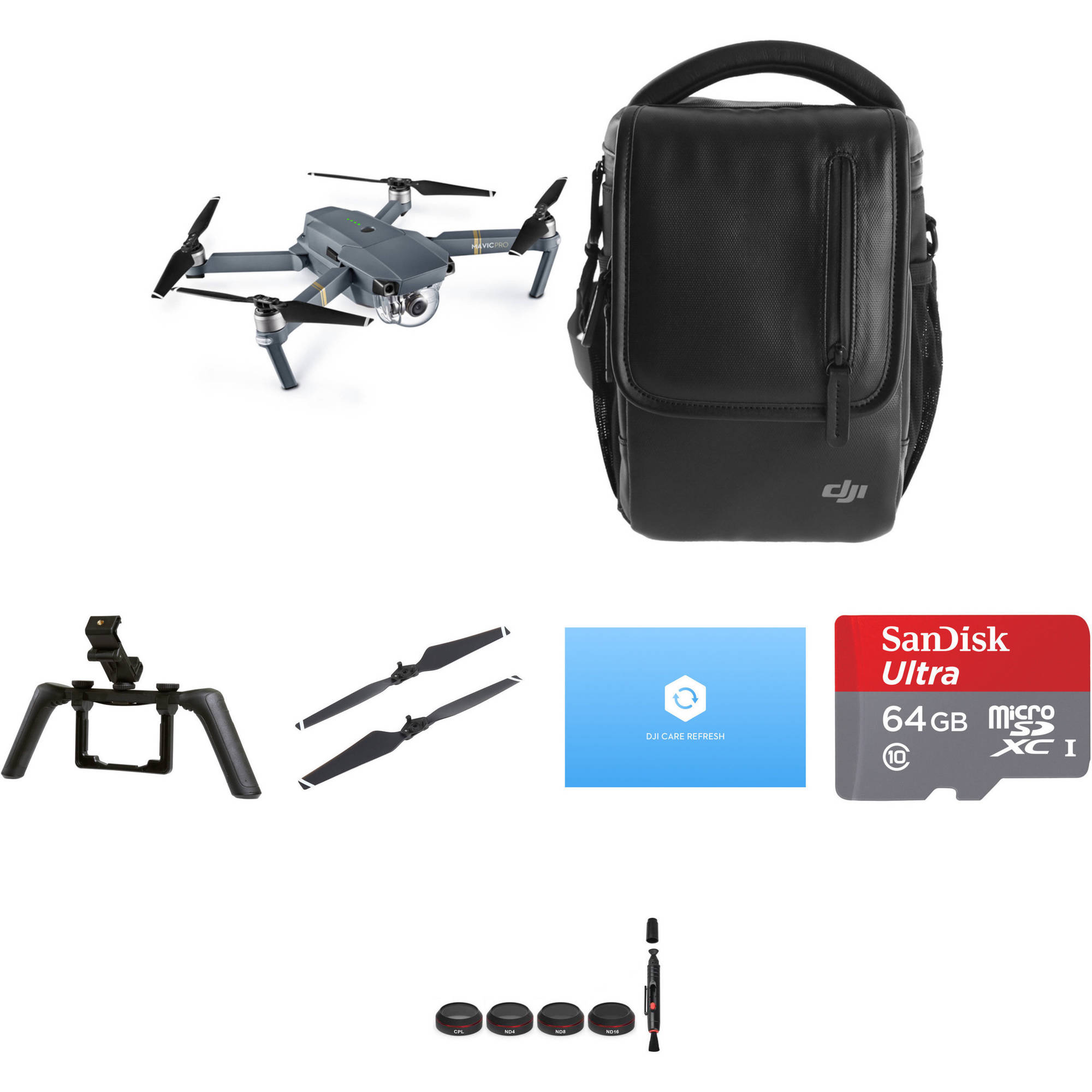dji mavic pro fly more combo with care refresh and accessories. Black Bedroom Furniture Sets. Home Design Ideas