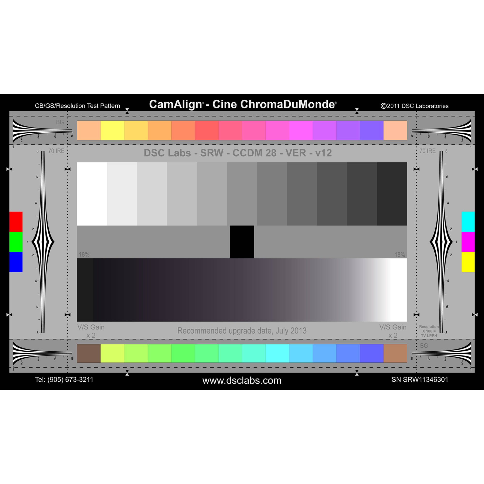 dsc labs the cine chromadumonde srw camera test chart ccdms. Black Bedroom Furniture Sets. Home Design Ideas