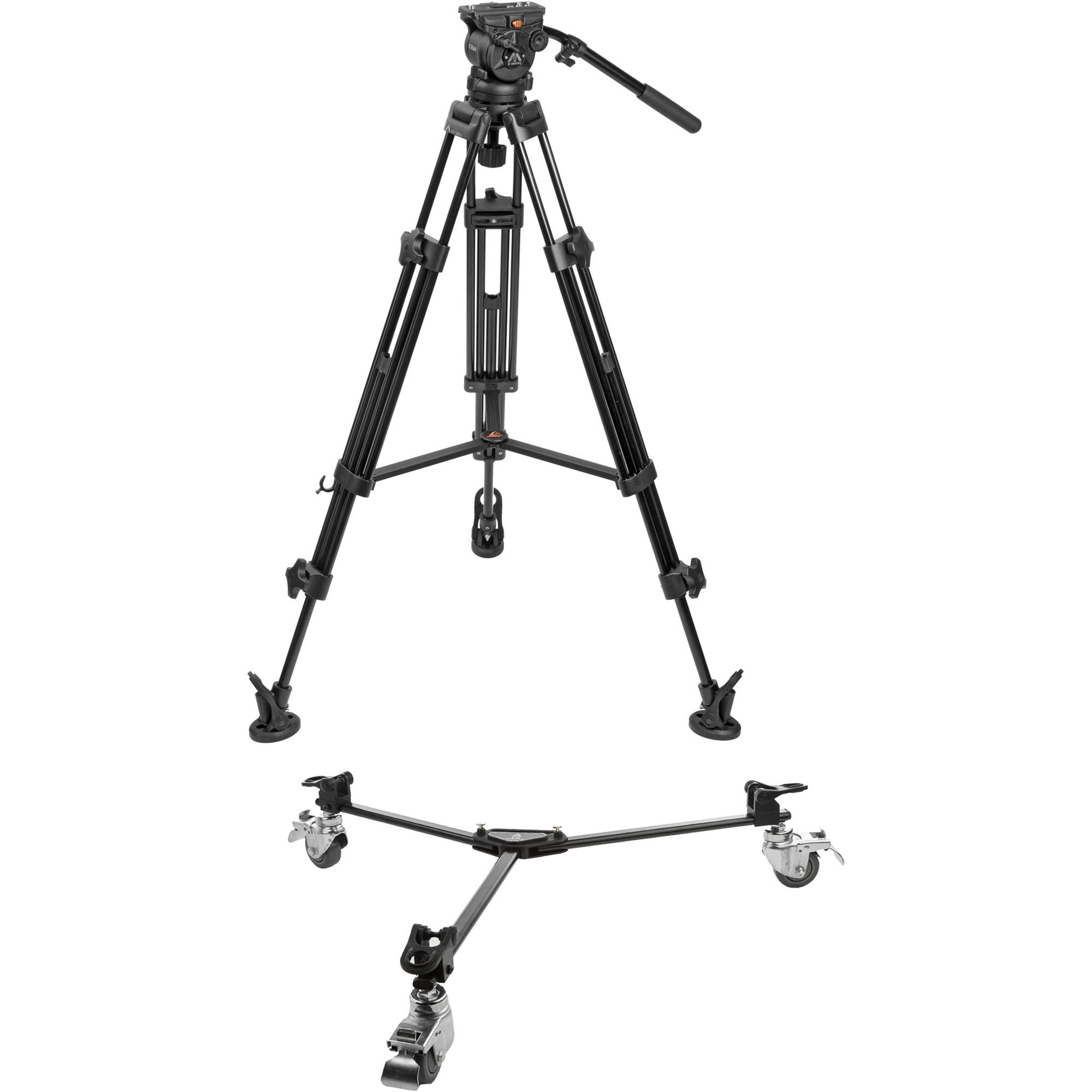 E Image Two Stage Aluminum Tripod With Eh60 Head Tripod
