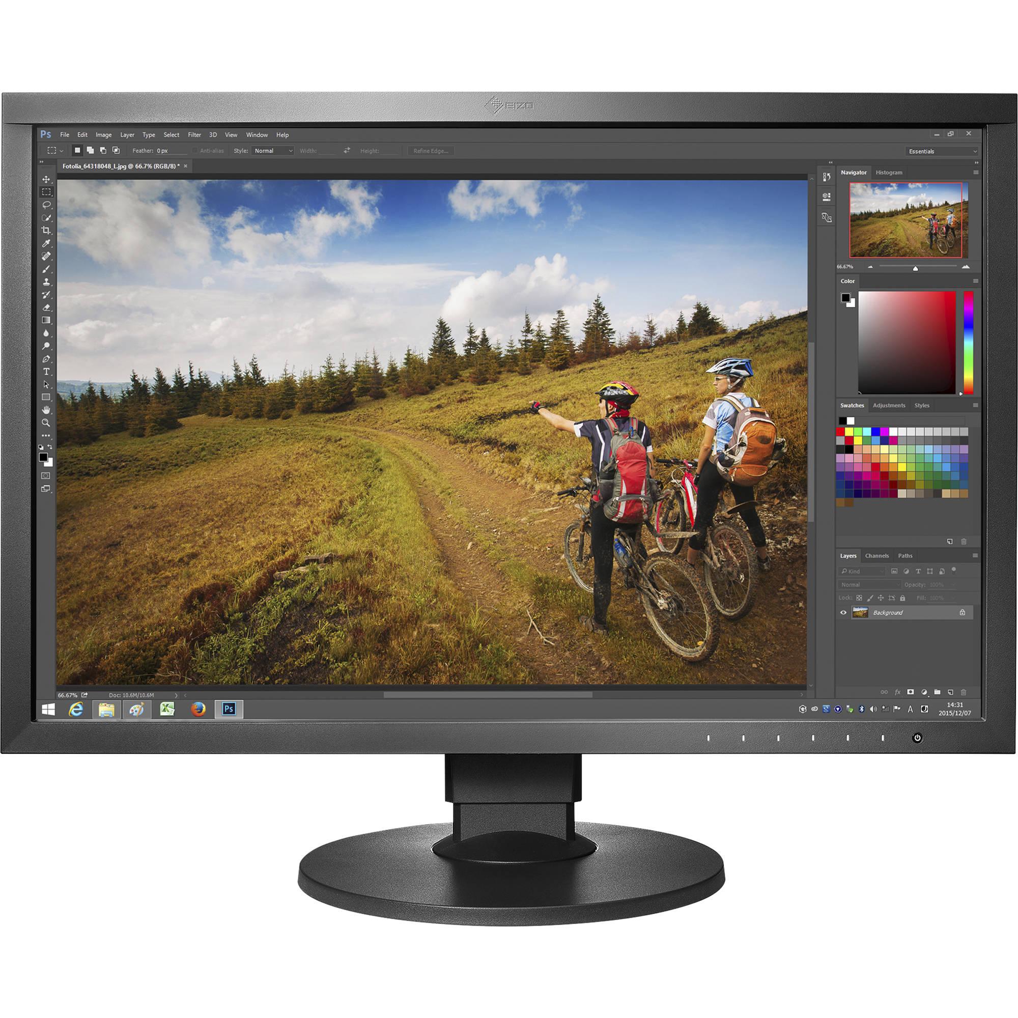 Eizo Coloredge Cs2420 24 1610 Ips Monitor Bk Bh Fuse Condition With Led Indicator