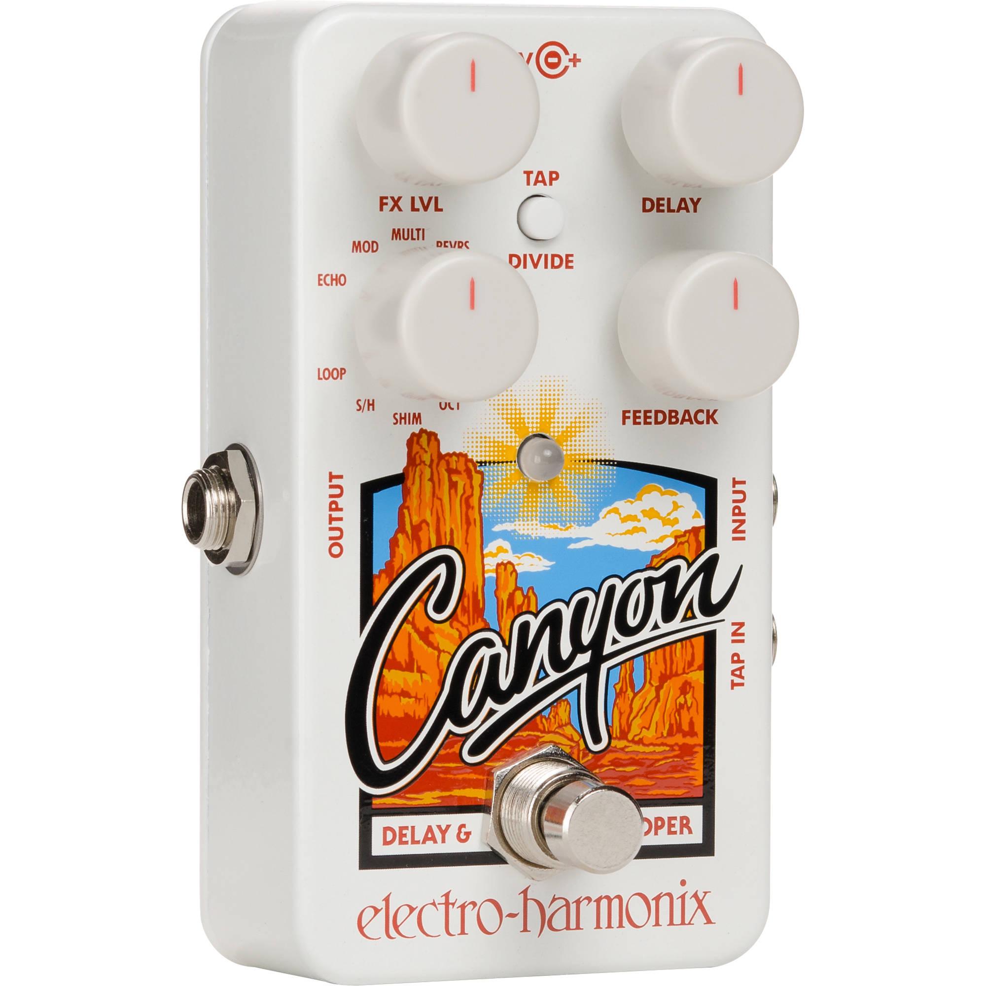 canyon delay  Electro-Harmonix Canyon Delay and Looper Pedal with 11 CANYON