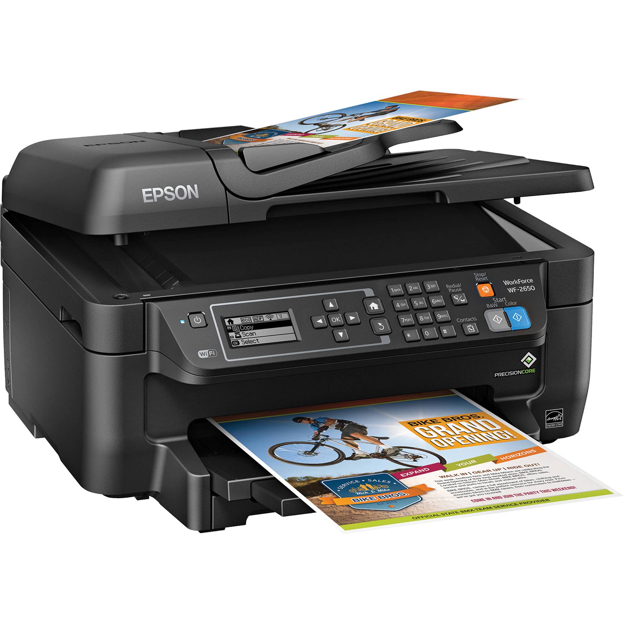 Epson WorkForce WF-2650 All-In-One Inkjet Printer ...