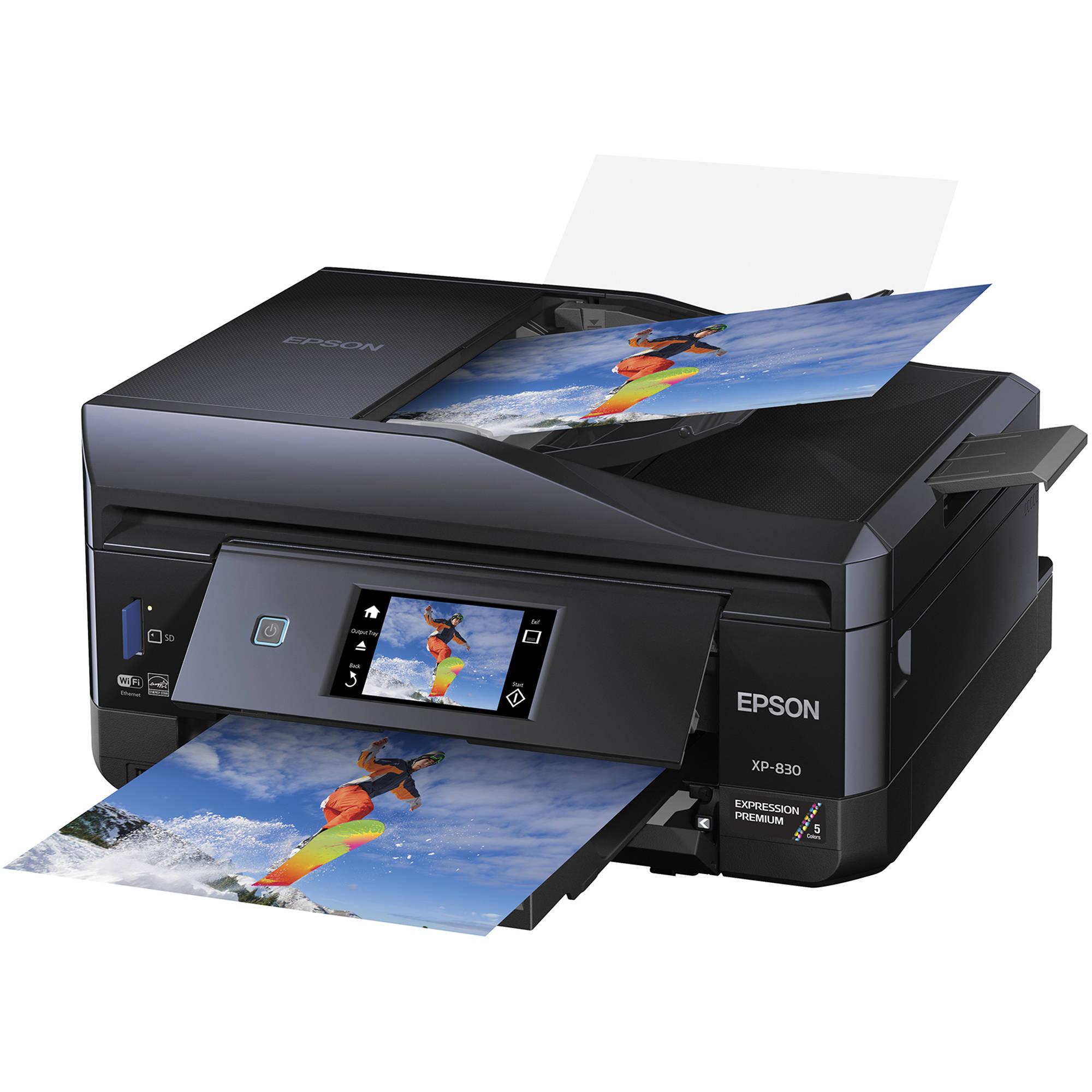 Epson 8 Color Inkjet Print Epson Premium Semigloss Photo: Epson Expression Premium XP-830 Small-In-One Inkjet C11CE78201