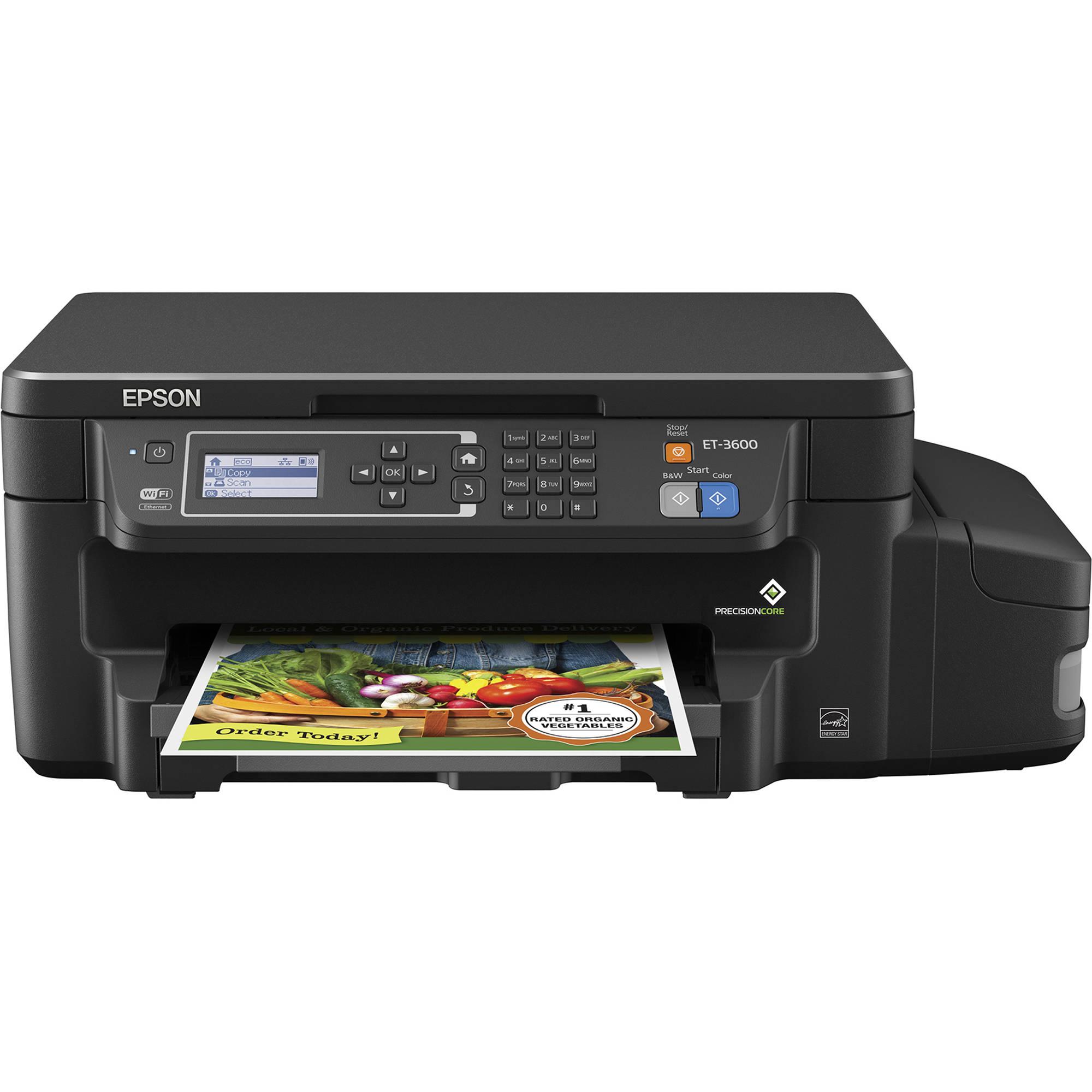 Epson Expression ET-3600 EcoTank All-in-One Inkjet Printer