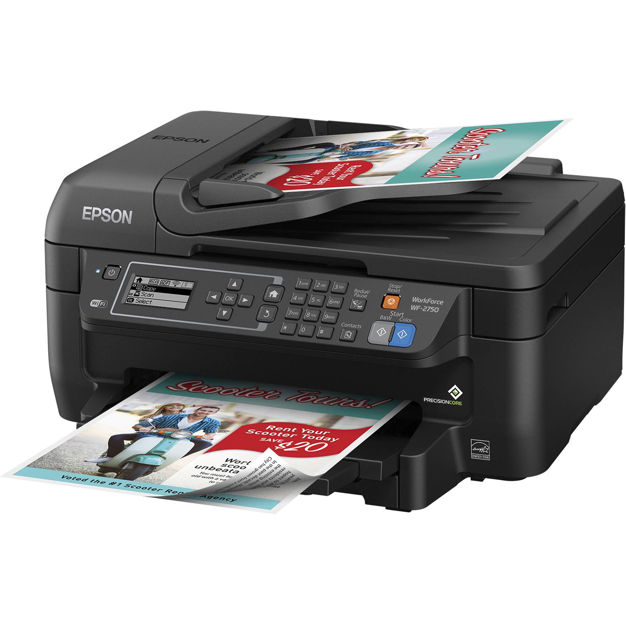 Epson WorkForce WF-2750 All-in-One Inkjet Printer