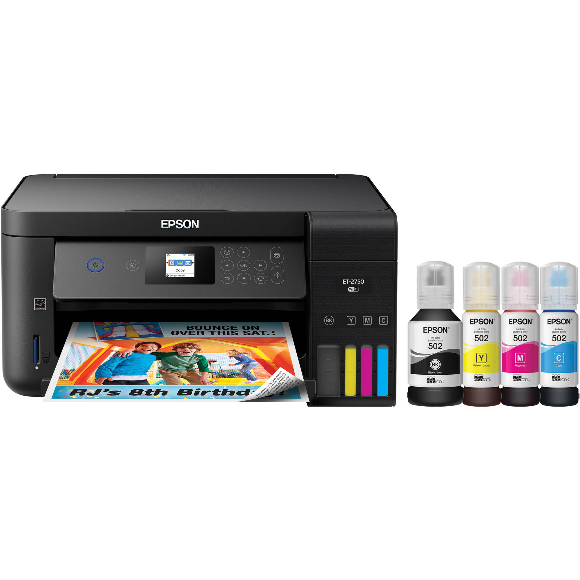epson expression et 2750 ecotank all in one inkjet c11cg22201. Black Bedroom Furniture Sets. Home Design Ideas