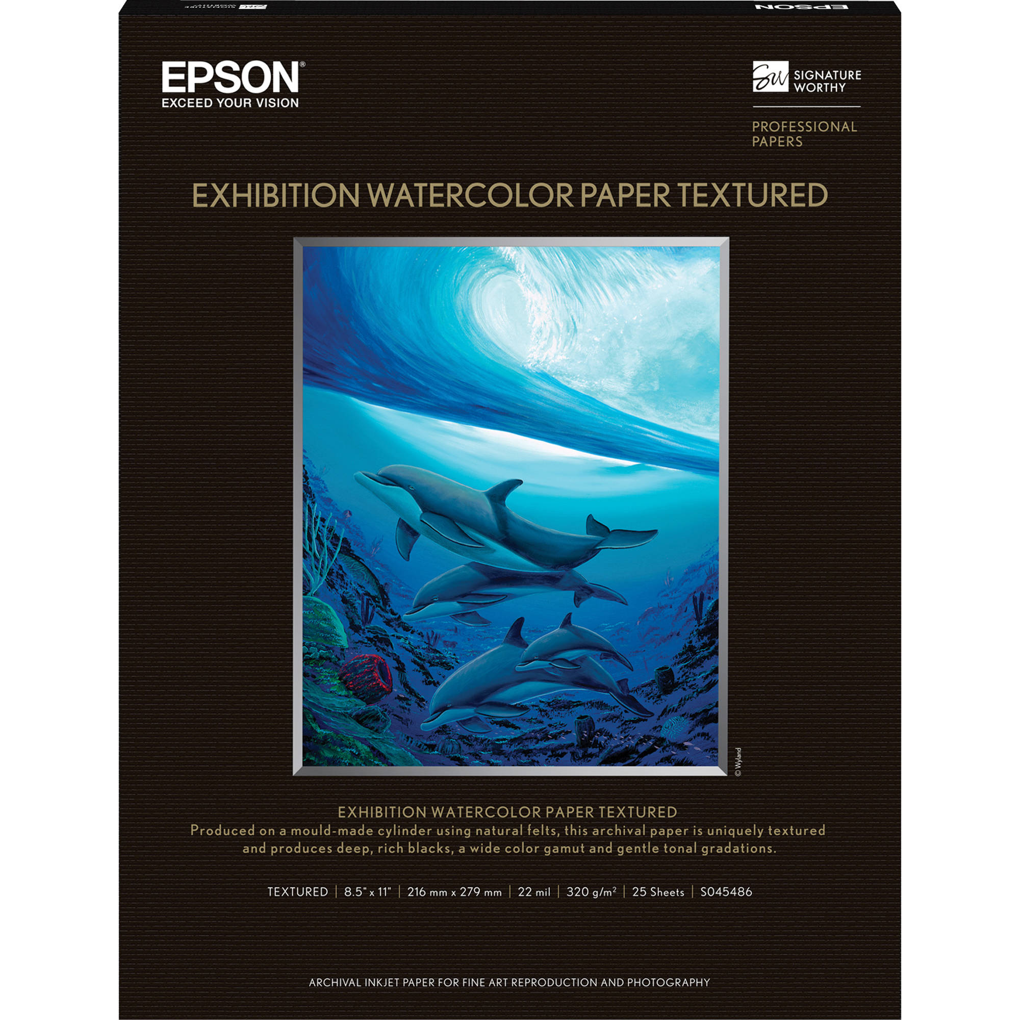 Epson Exhibition Watercolor Paper Textured S045486 B&H Photo