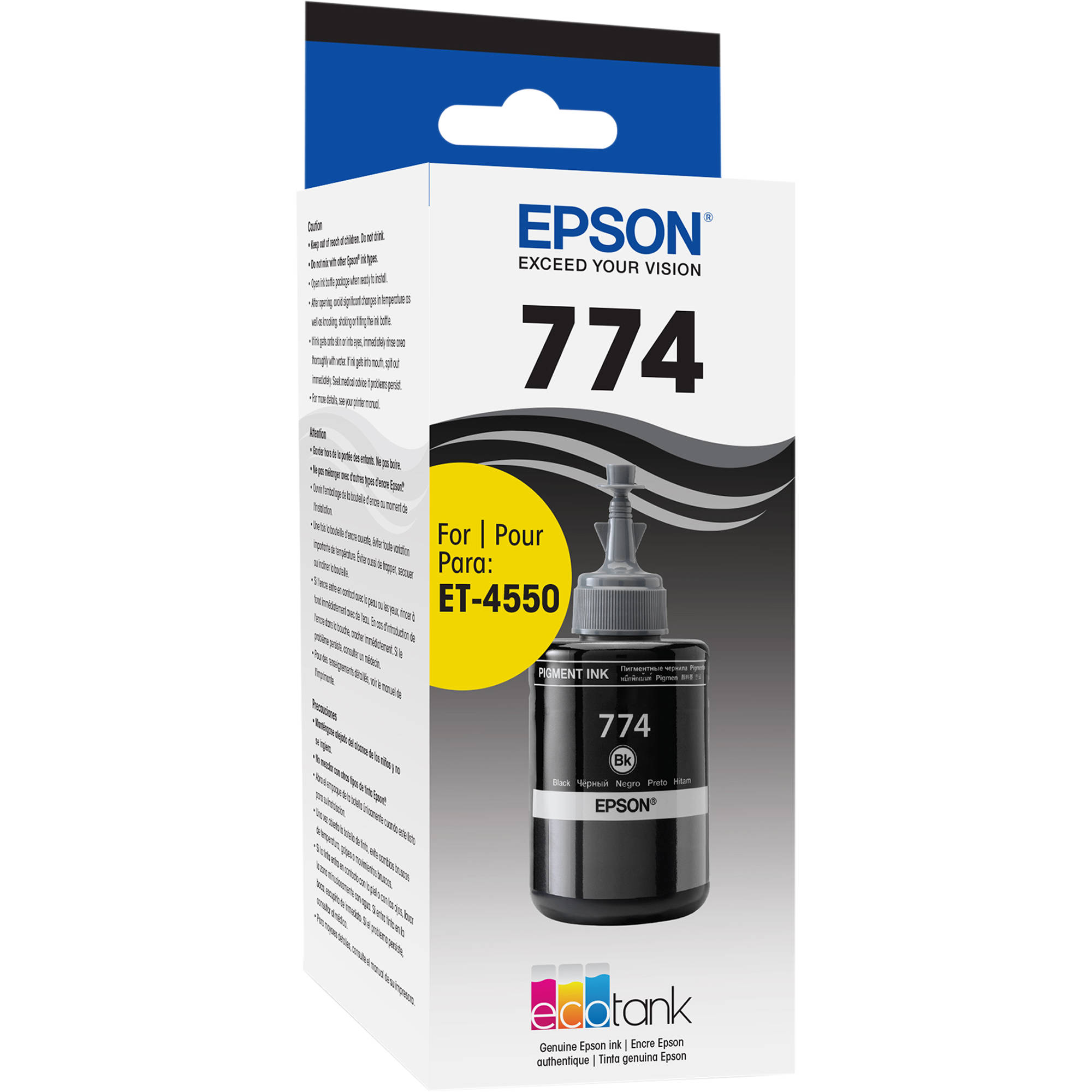 Compare Epson T774 Vs T664 Bh Photo Tinta T6731 Black Ink Bottle 140ml