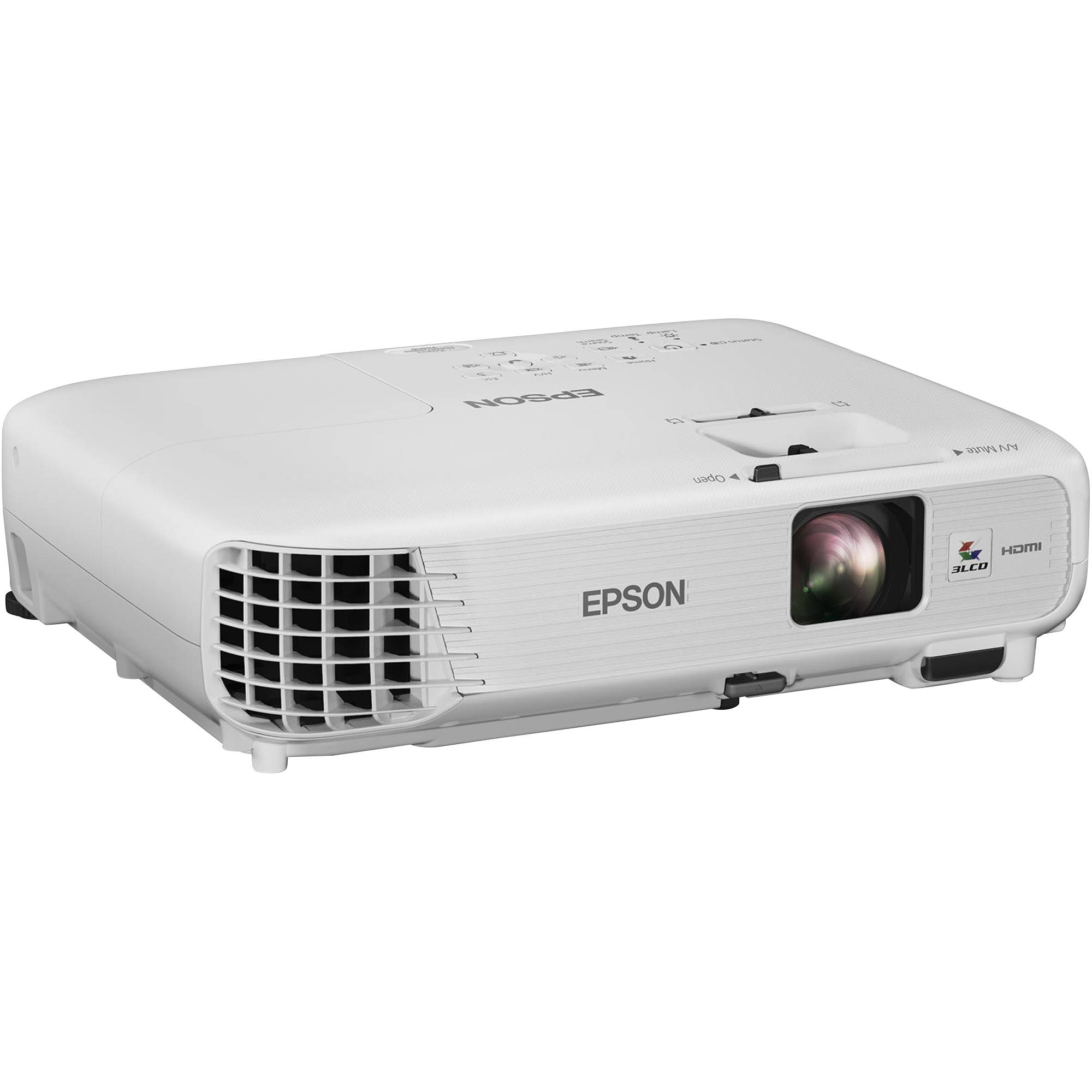 Epson powerlite home cinema 740hd hd 3lcd home v11h764020 b h for Hd projector