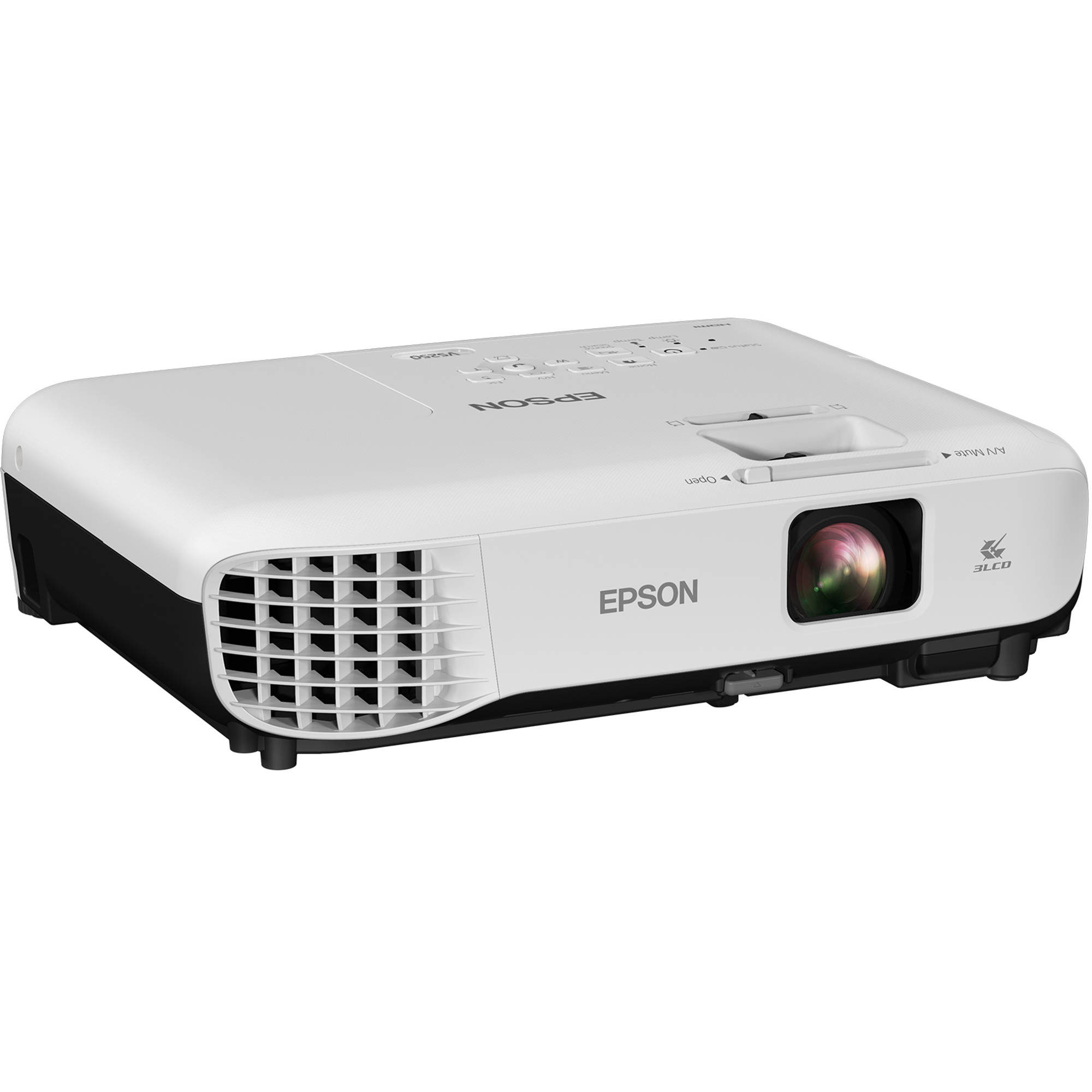 Epson vs250 3200 lumen svga 3lcd projector v11h838220 b h for Small projector with high lumens
