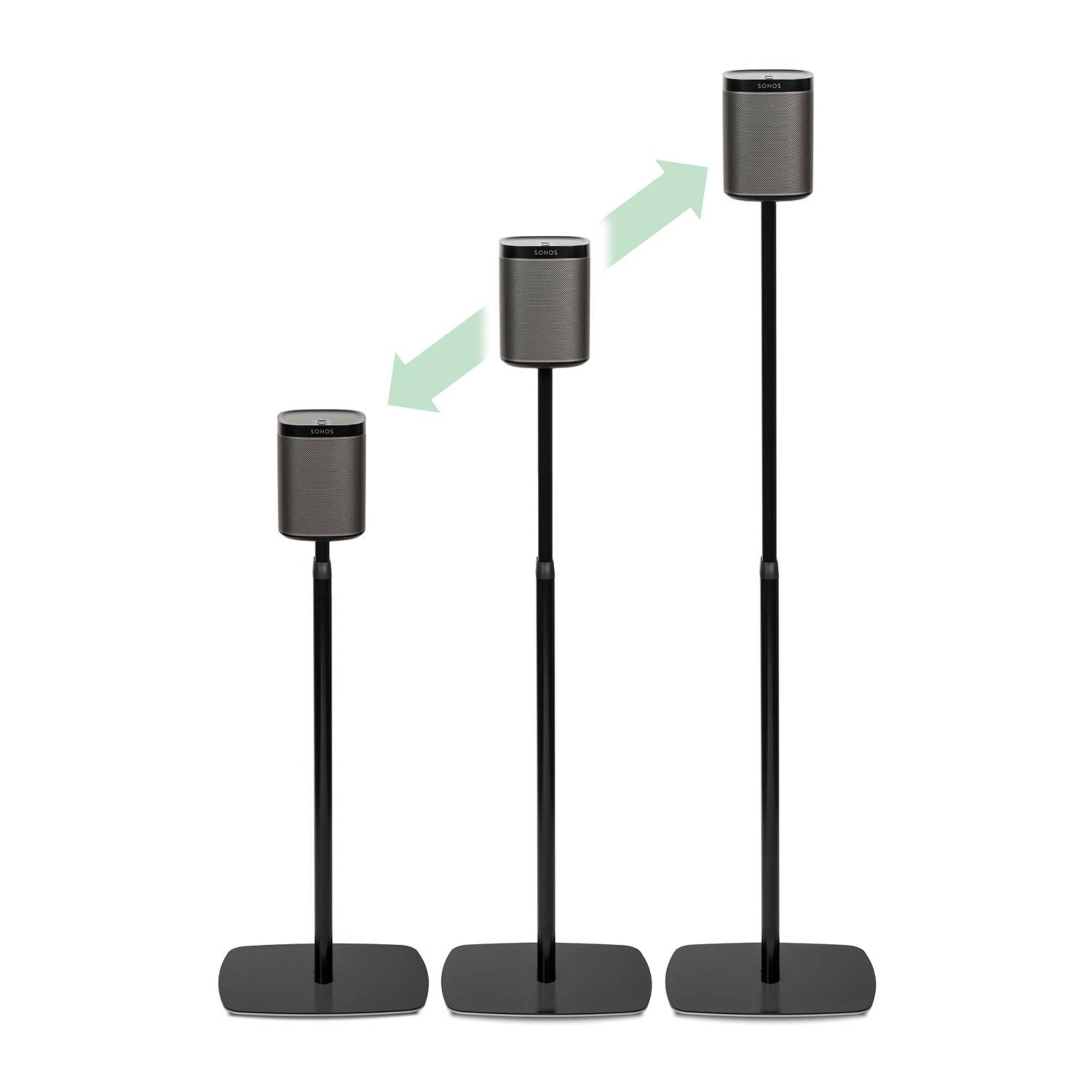 Flexson Adjustable Floorstand For Sonos Play 1 Flxp1as1021 B Amp H