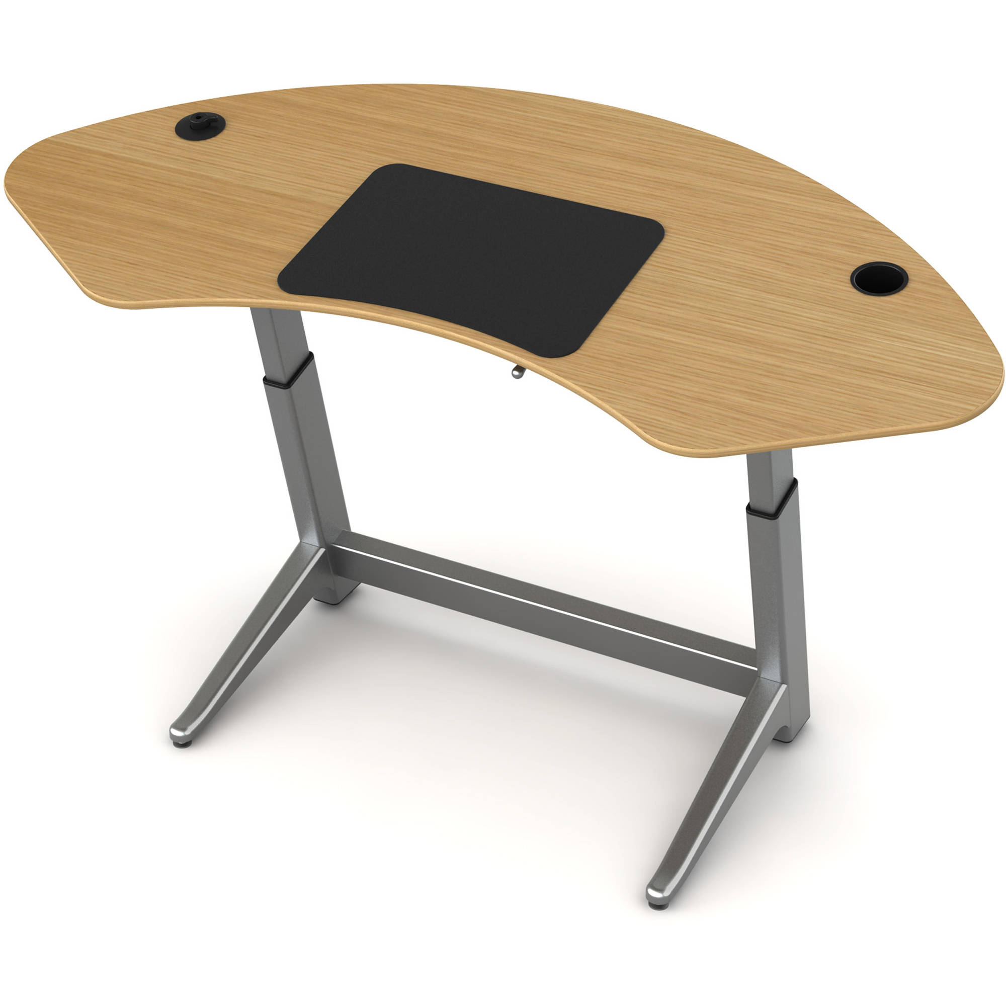 Captivating Focal Upright Furniture Sphere Standing Desk (White Oak Top)
