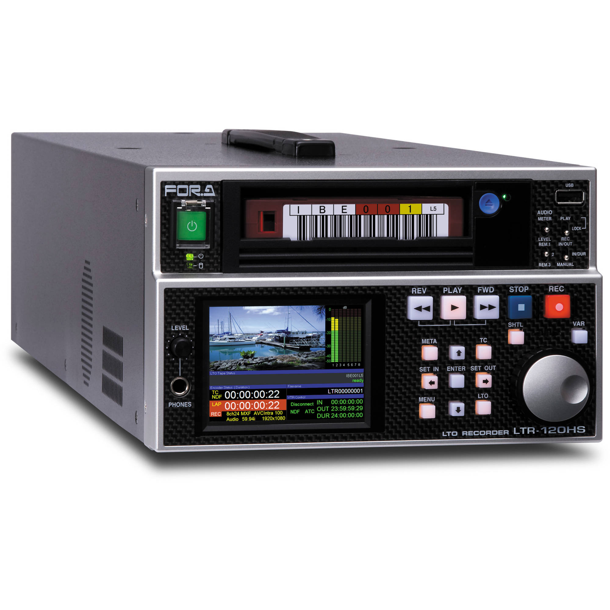 For a linear tape open ltr 120hs avc intra video archiving recorder