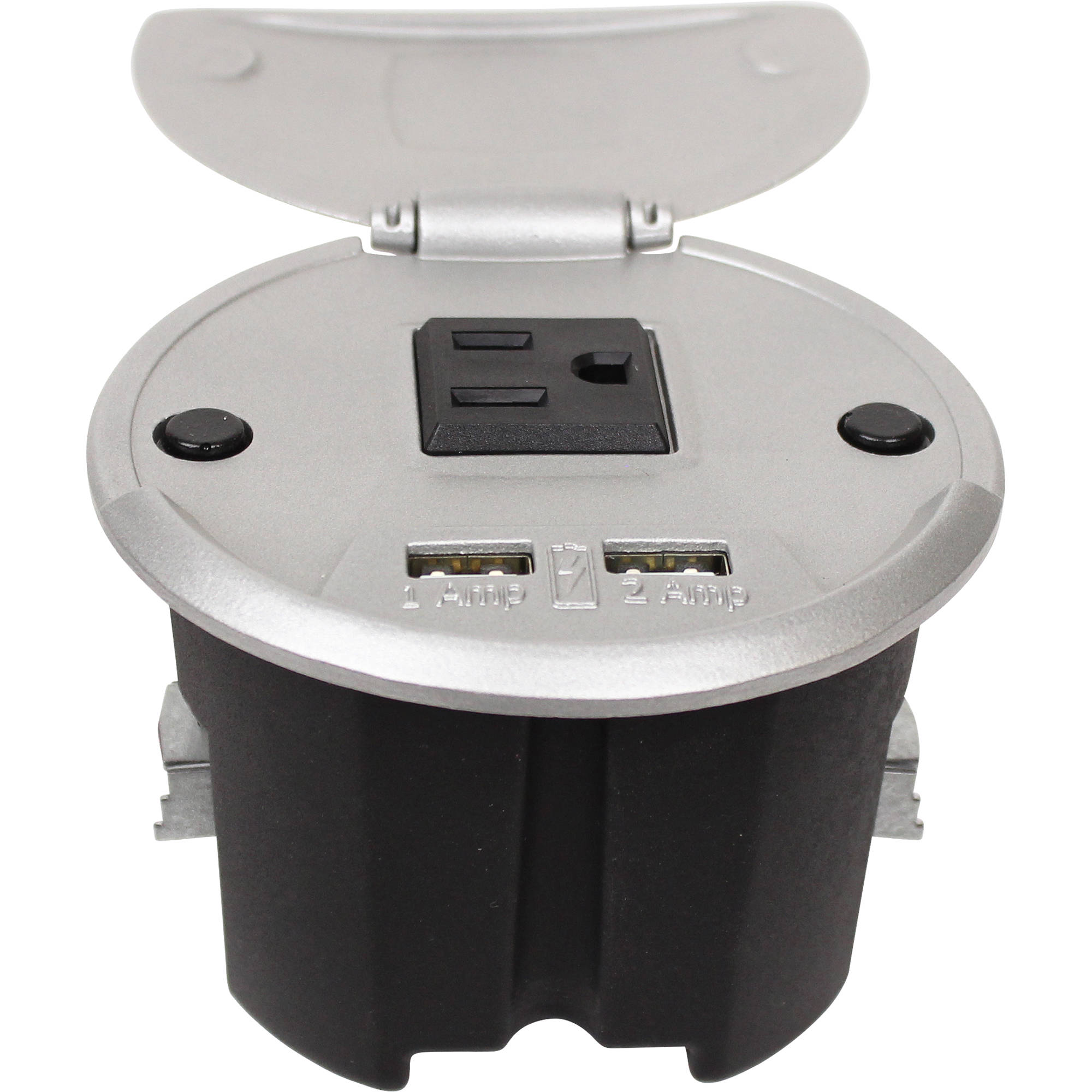 Fsr Charging Table Box With Ac Outlet Two Tc Chrg Alm 6 Wiring An 2 Black White Usb Ports Aluminum