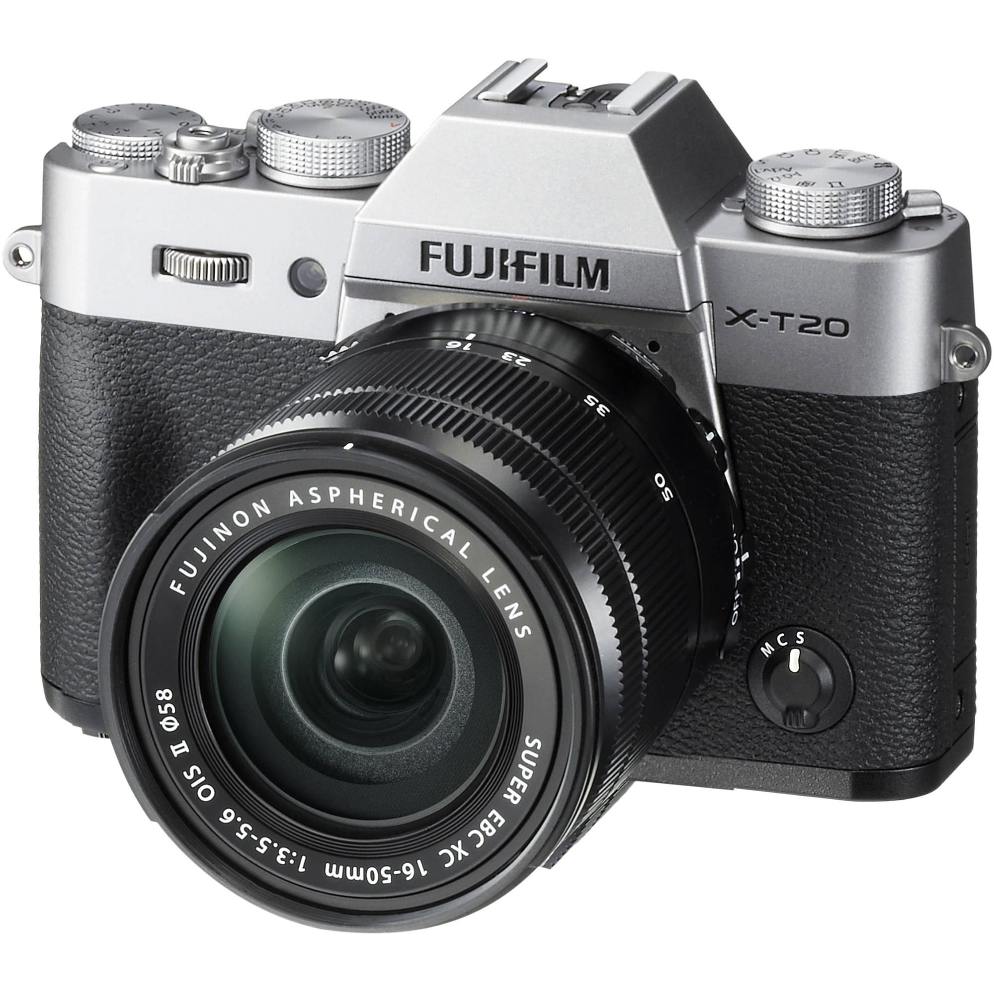 Fuji Digital Cameras: FUJIFILM X-T20 Mirrorless Digital Camera With 16-50mm 16542880