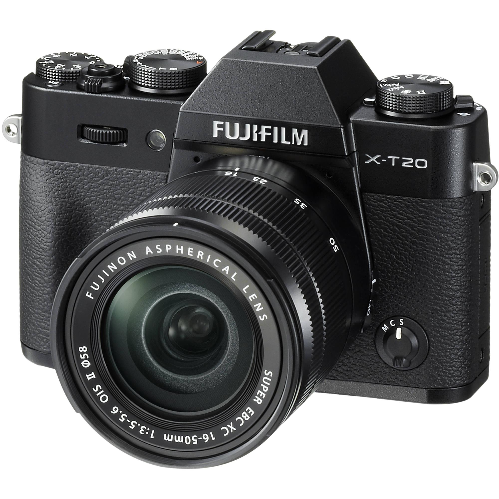 Fuji Camera: FUJIFILM X-T20 Mirrorless Digital Camera With 16-50mm 16543016