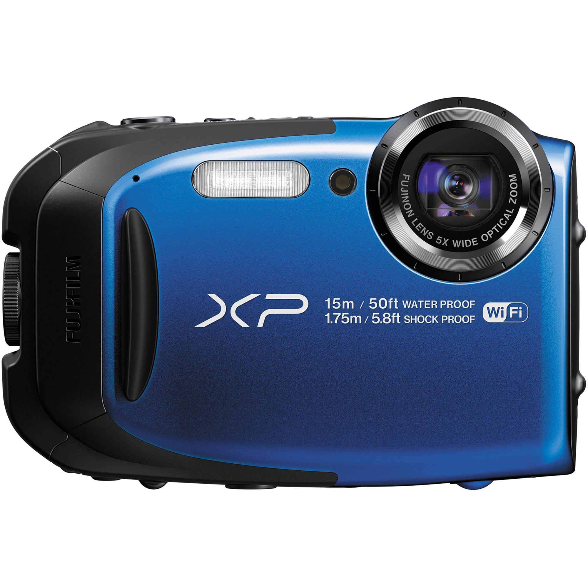 Fuji Digital Cameras: FUJIFILM FinePix XP80 Digital Camera (Blue) 16449430 B&H Photo