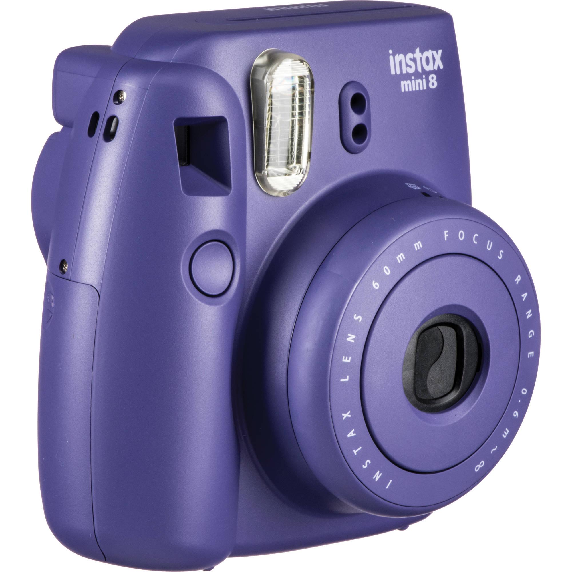Fuji instax mini 8 instant photo camera grape purple w 20 for Instax mini 8 housse