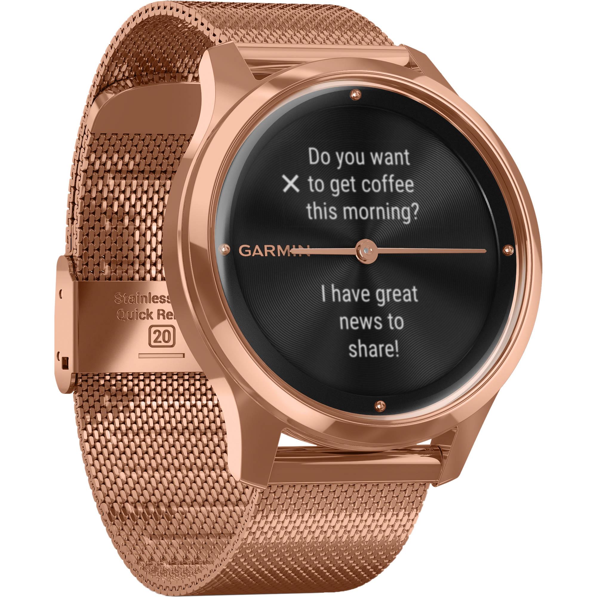 pompa Senza valore Turbolenza  Garmin vivomove Luxe Hybrid Smartwatch 010-02241-04 B&H Photo