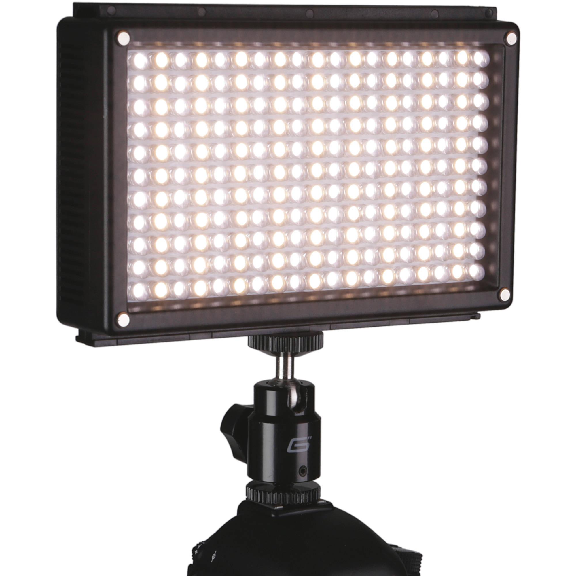 Genaray LED-6500T 209 LED Variable-Color On-Camera LED