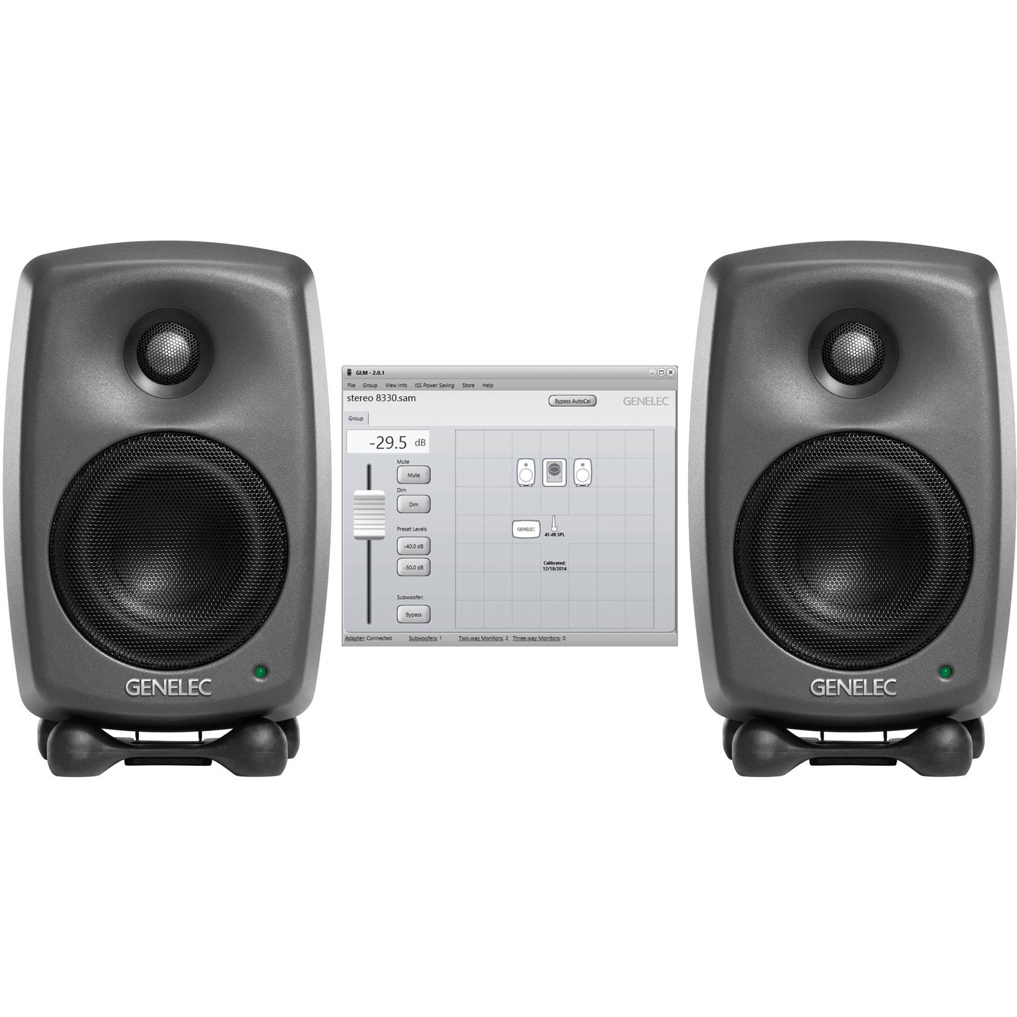 genelec two 8320a studio monitors glm v2 0 8320 stereo sam. Black Bedroom Furniture Sets. Home Design Ideas