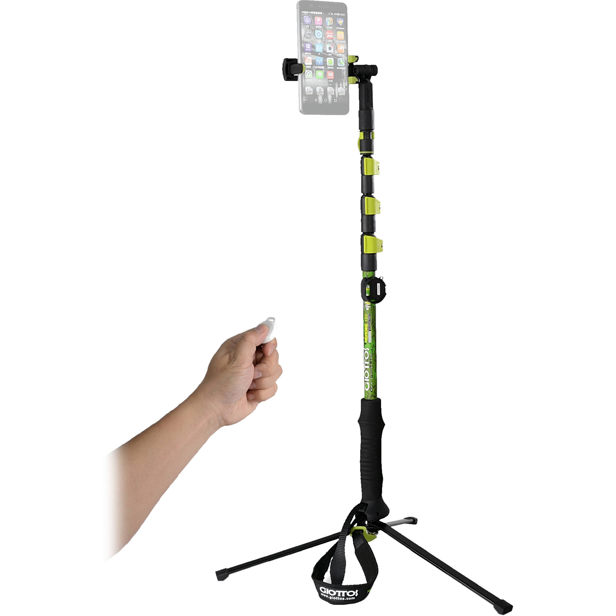 giottos memoire 100 trekking pole tripod selfie stick mm100 b h. Black Bedroom Furniture Sets. Home Design Ideas