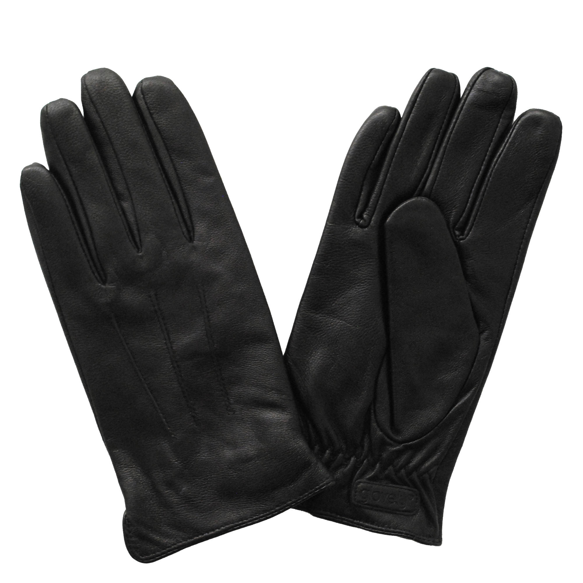 Glove.ly Men's Leather Touchscreen Gloves (Black, Small)