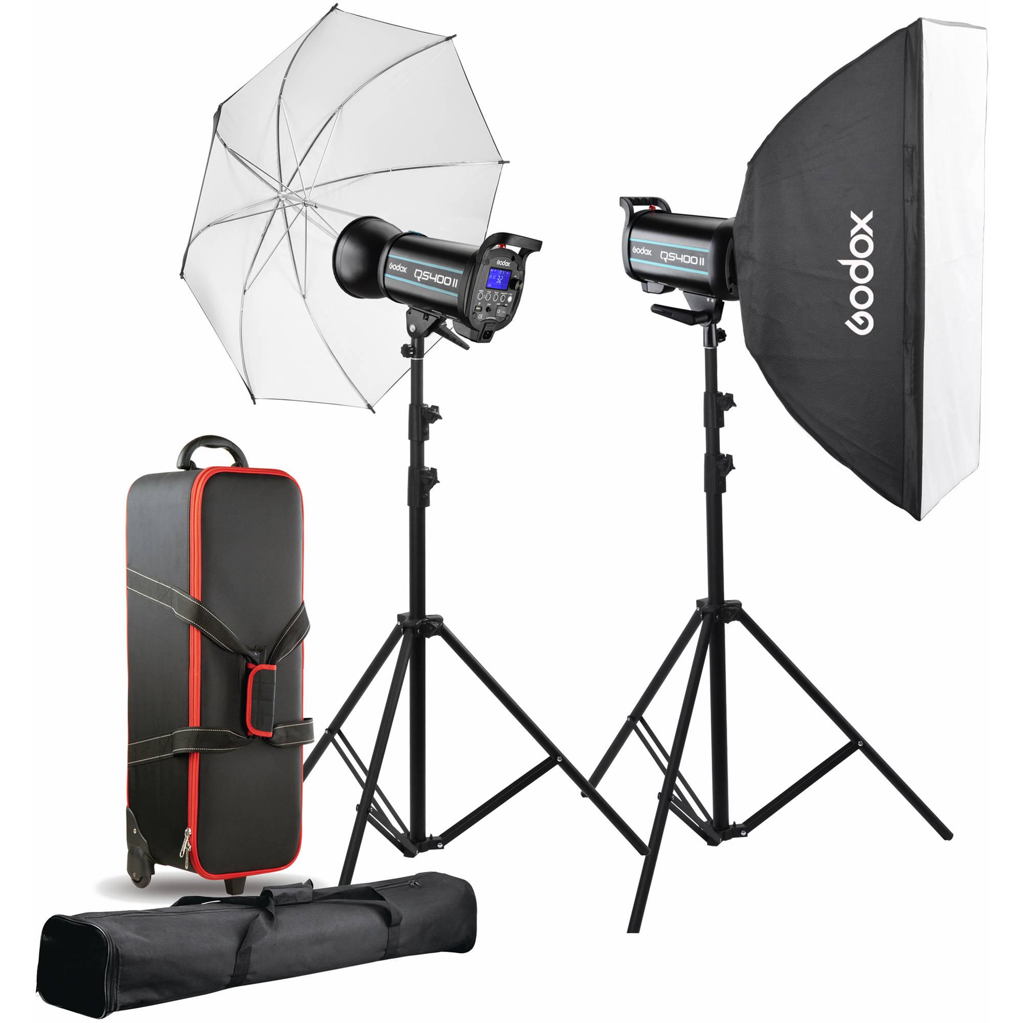Godox Studio Lighting Kit Bag: Godox QS400II 2-Light Studio Flash Kit QS400II-C B&H Photo