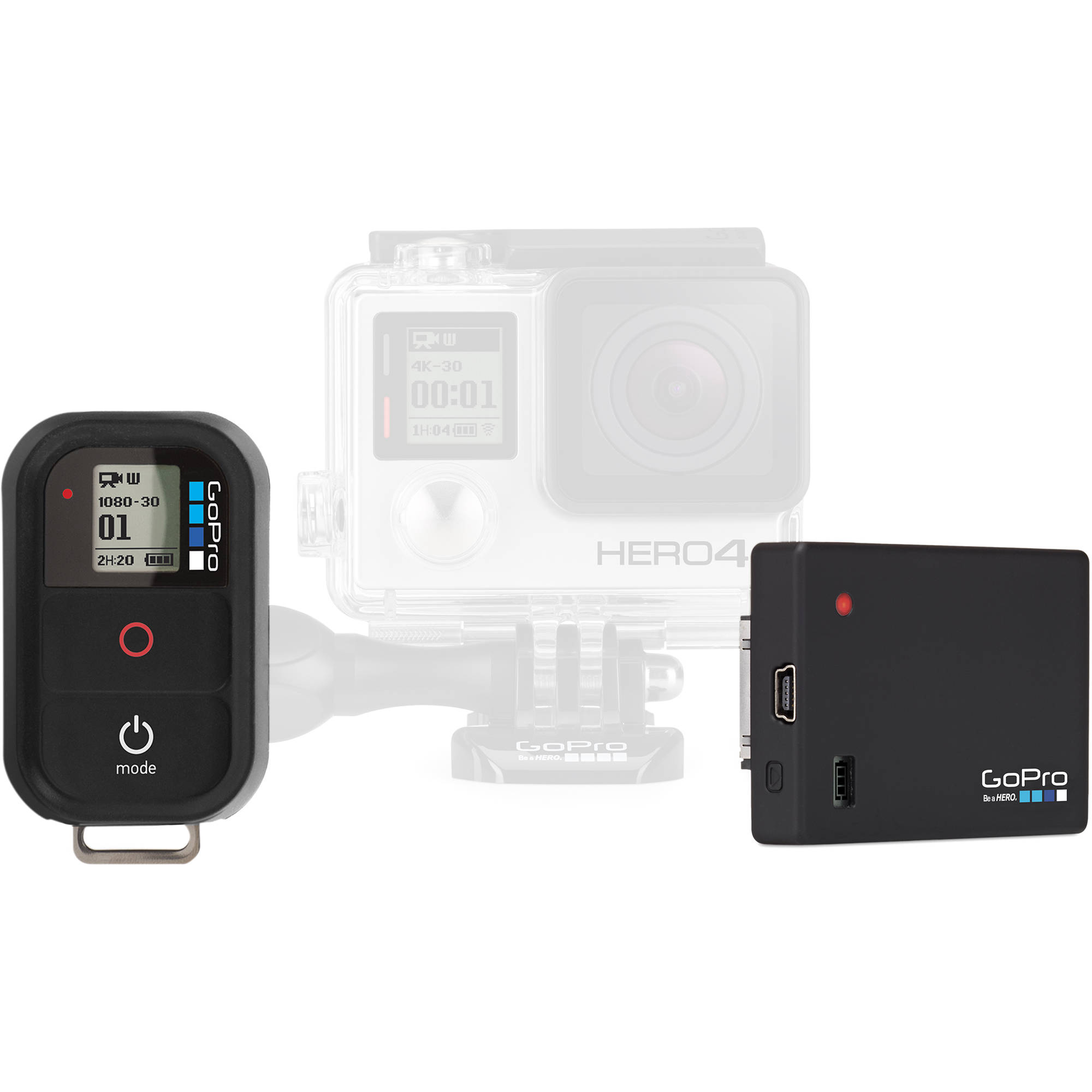 gopro remote 1 0 and battery bacpac bundle arbpb 101 b h photo. Black Bedroom Furniture Sets. Home Design Ideas