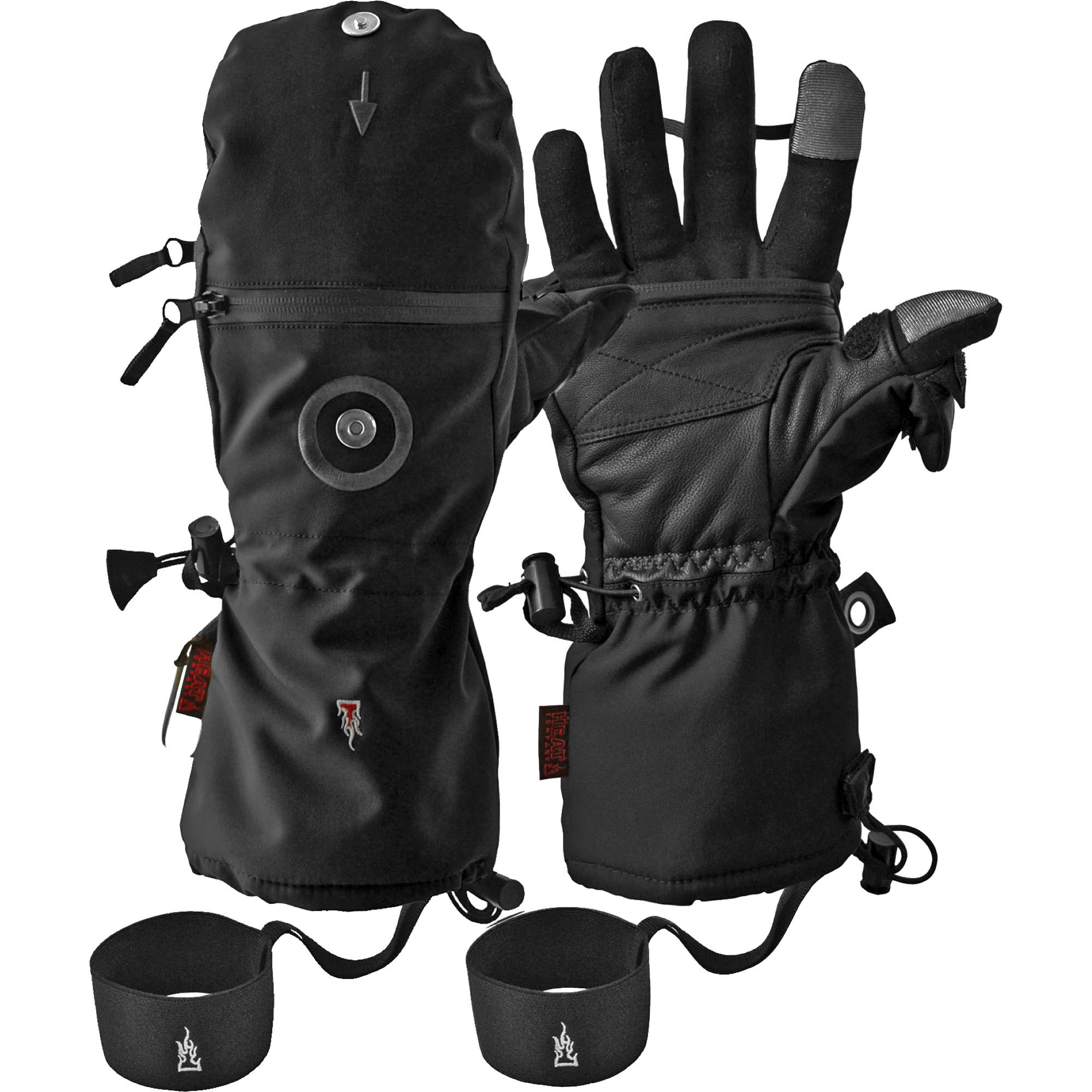 Mens gloves extra large - The Heat Company Heat 3 Smart Cold Weather Touchscreen Gloves Men S Extra Large Black