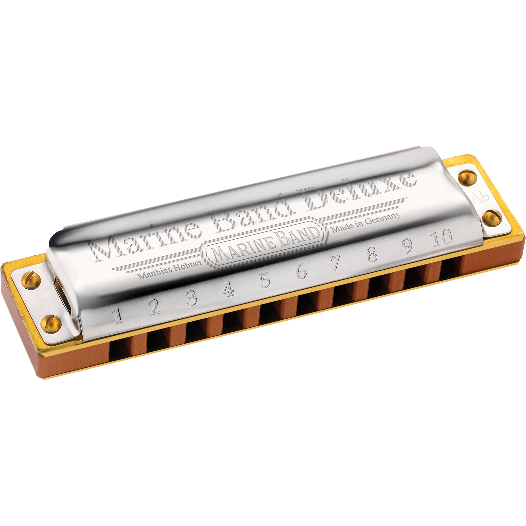 hohner marine band deluxe harmonica with retail box m2005bx f. Black Bedroom Furniture Sets. Home Design Ideas