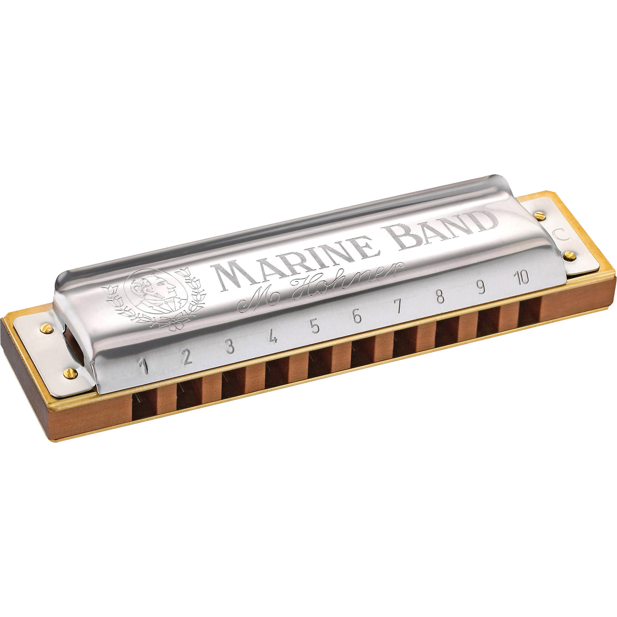 hohner hohner 1896 marine band harmonica with retail box mbc g. Black Bedroom Furniture Sets. Home Design Ideas