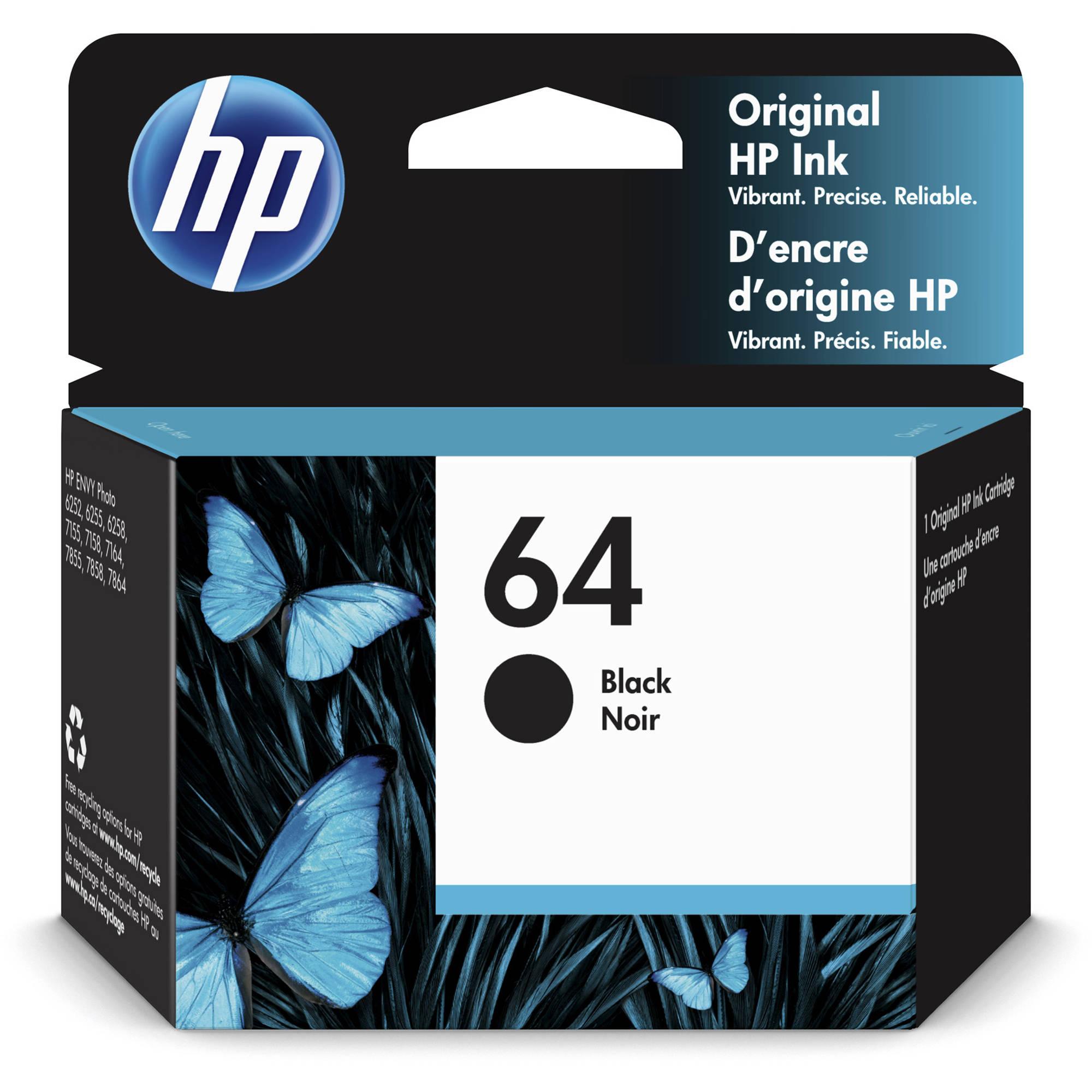Hp 64 Black Ink Cartridge 4ml N9j90an140 Bh Photo Video