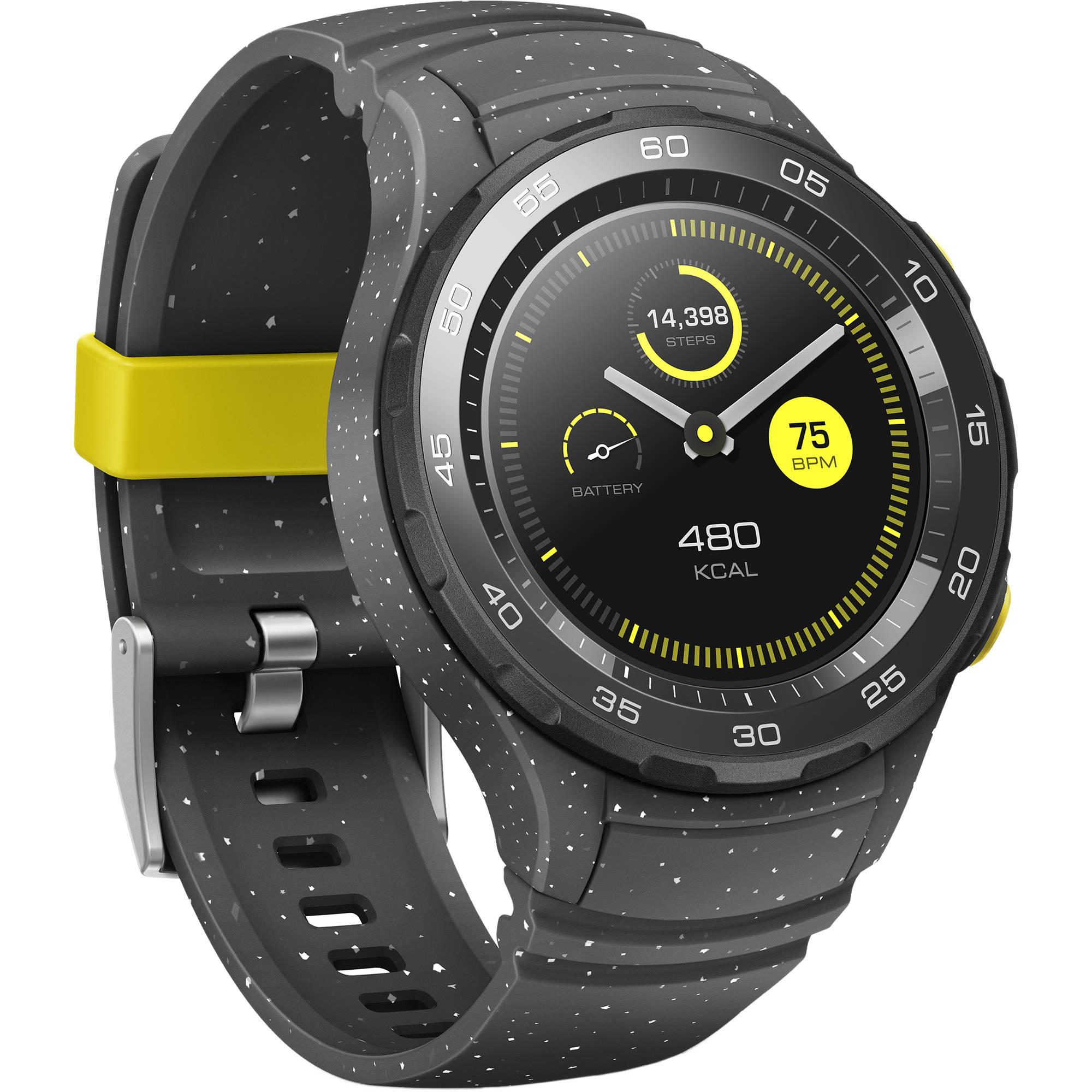 huawei watch 2 pro. huawei watch 2 sport smartwatch (concrete gray) pro k