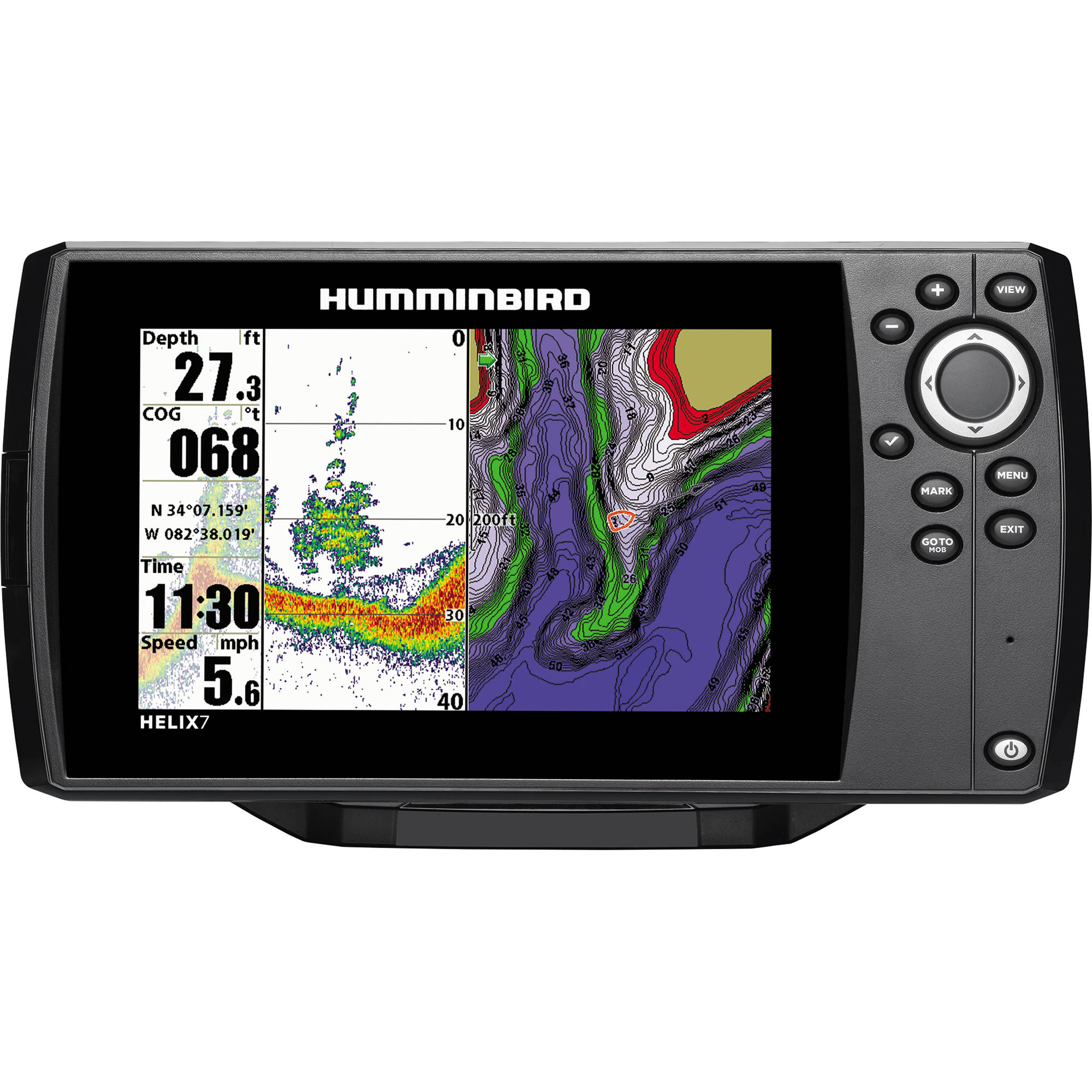 humminbird helix 7 gps fishfinder 409820-1 b&h photo video, Fish Finder