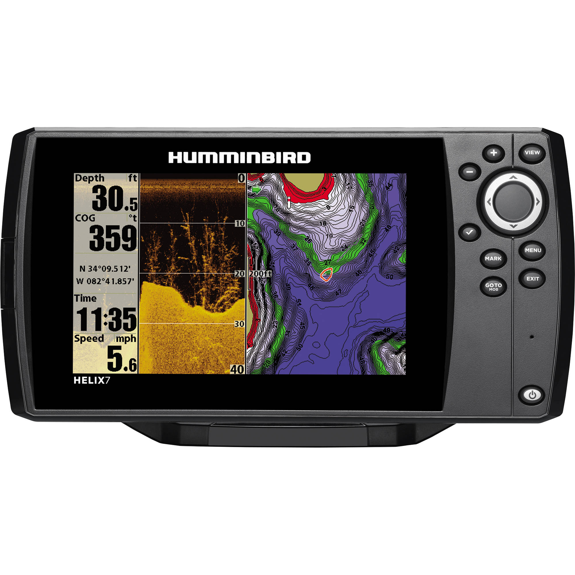 humminbird helix 7 di gps fishfinder 409830-1 b&h photo video, Fish Finder