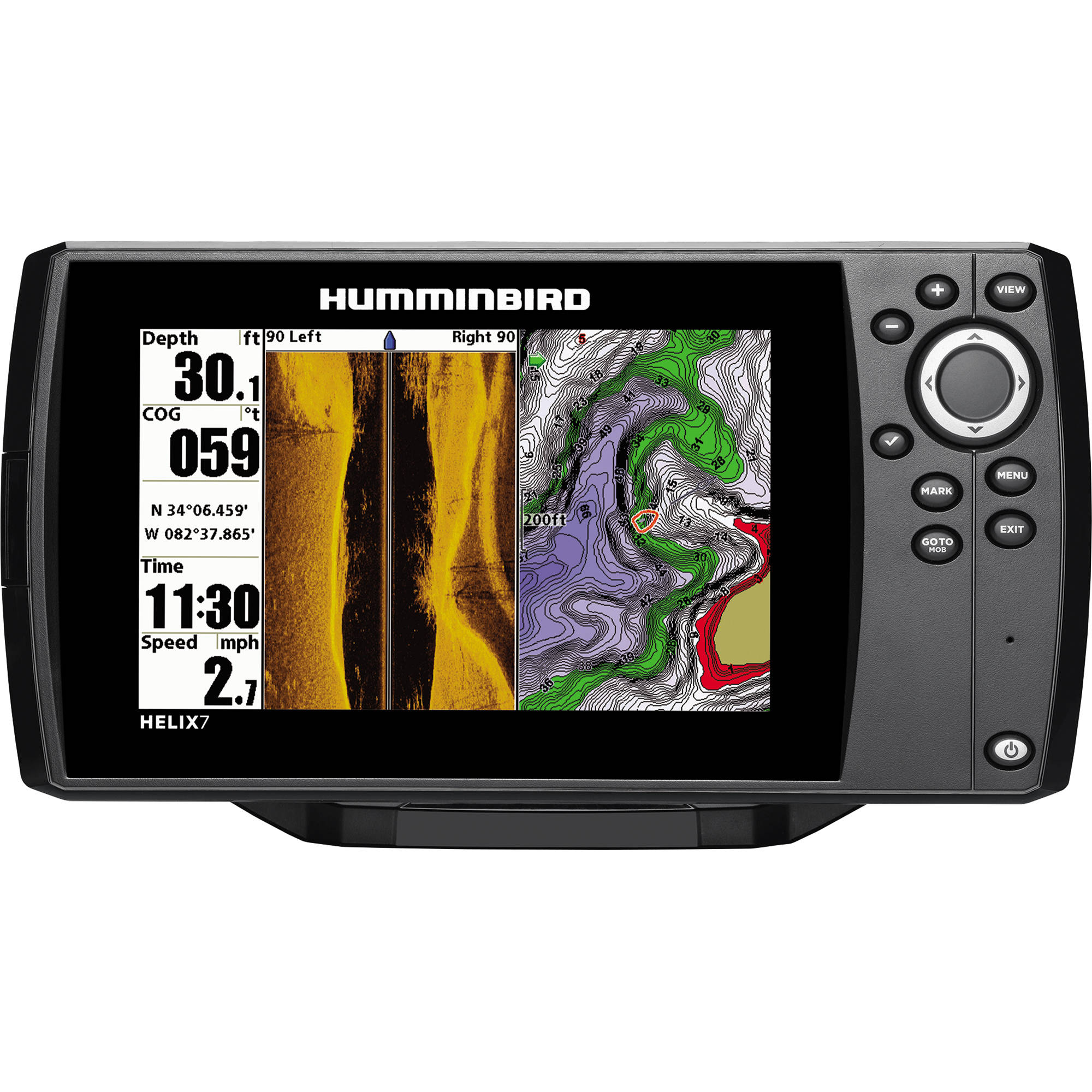 humminbird helix 7 si gps fishfinder 409850 1 b h photo video. Black Bedroom Furniture Sets. Home Design Ideas